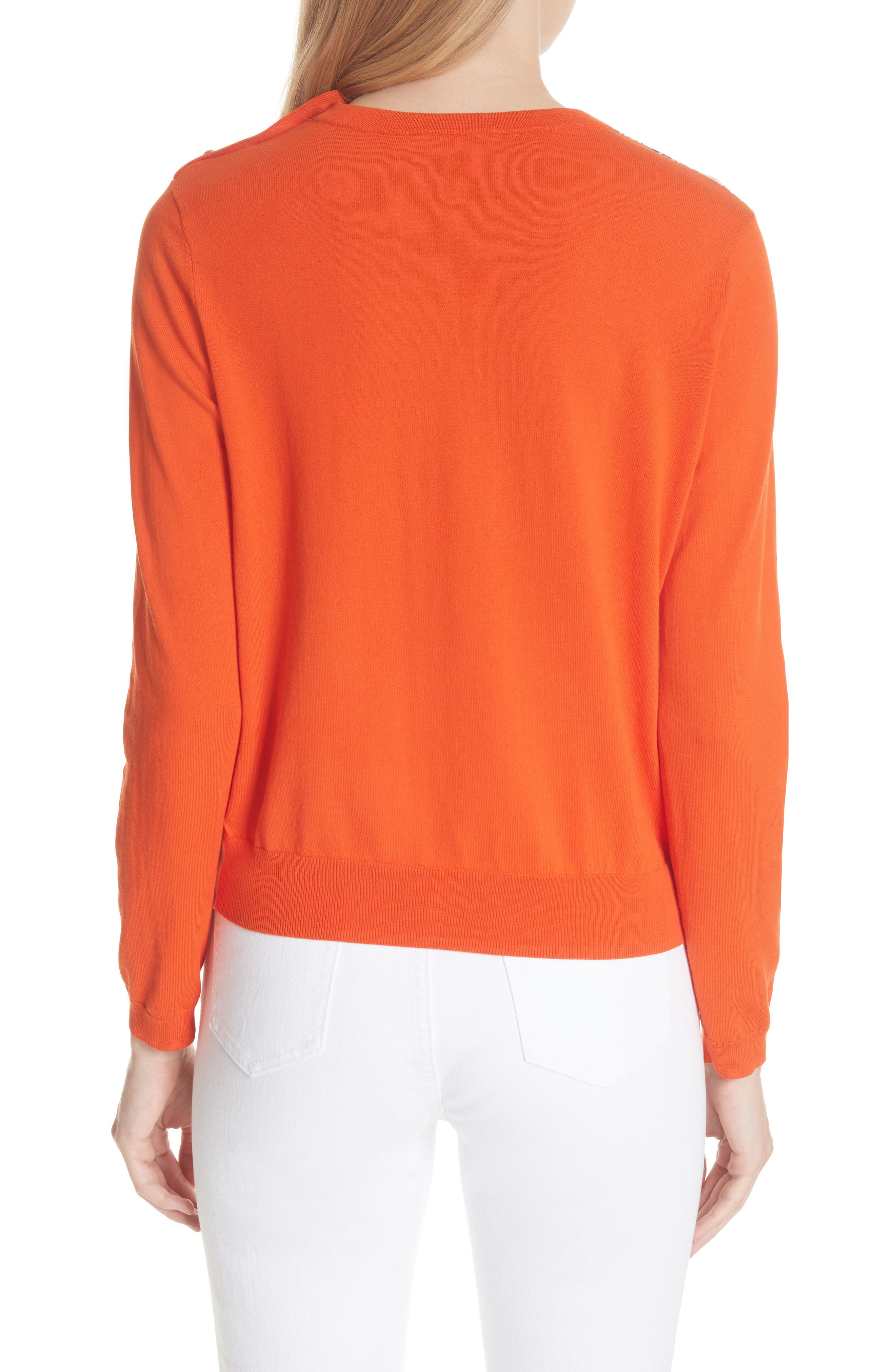 Alyssa Sweater,                             Alternate thumbnail 2, color,                             Sweet Tangerine