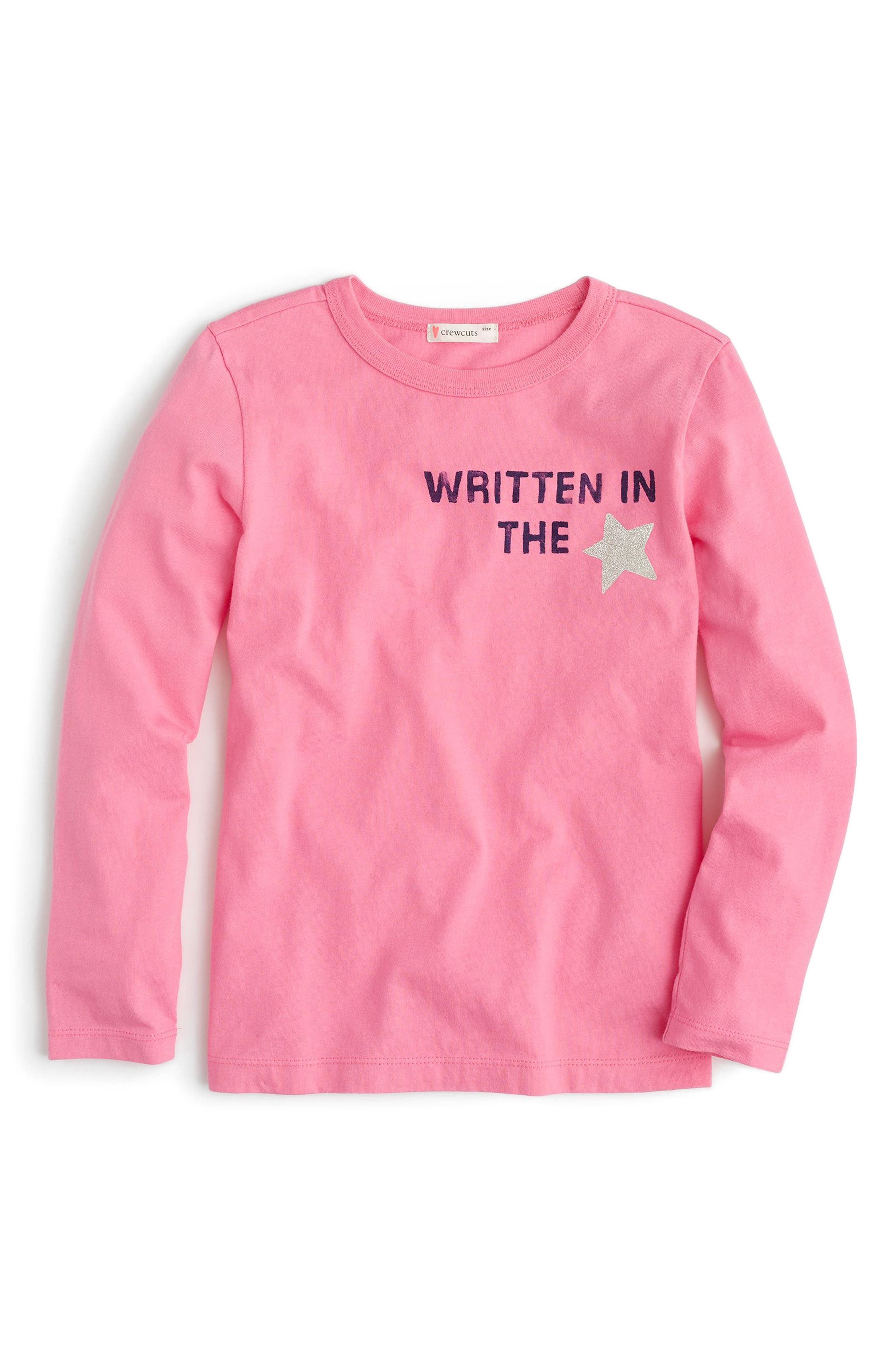 Written In The Stars Tee,                             Main thumbnail 1, color,                             Flash Pink Ka2996