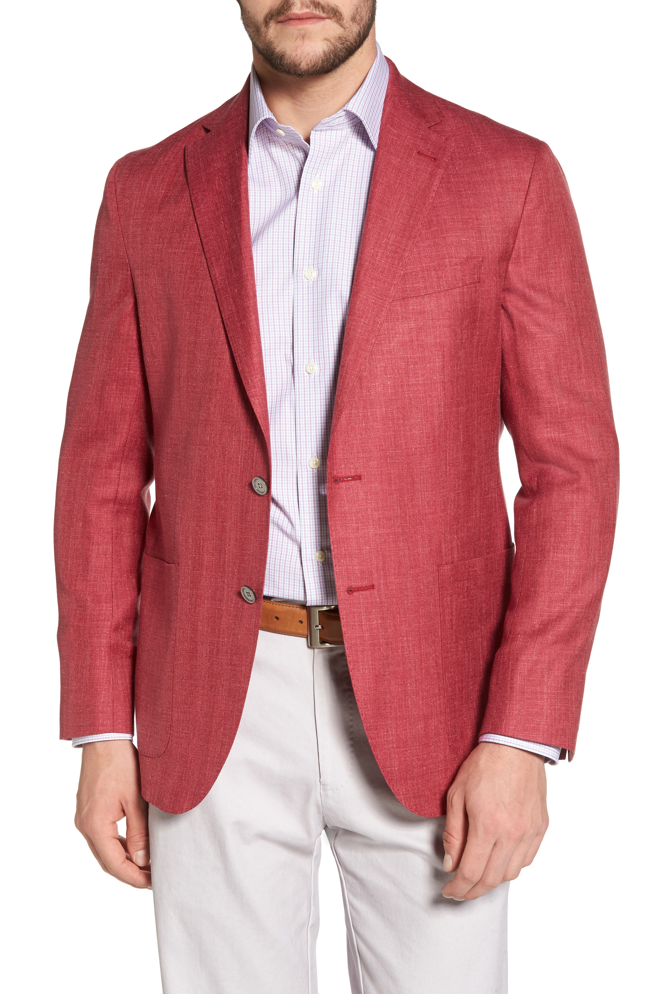 Aiden Classic Fit Wool Blend Blazer,                             Main thumbnail 1, color,                             Red