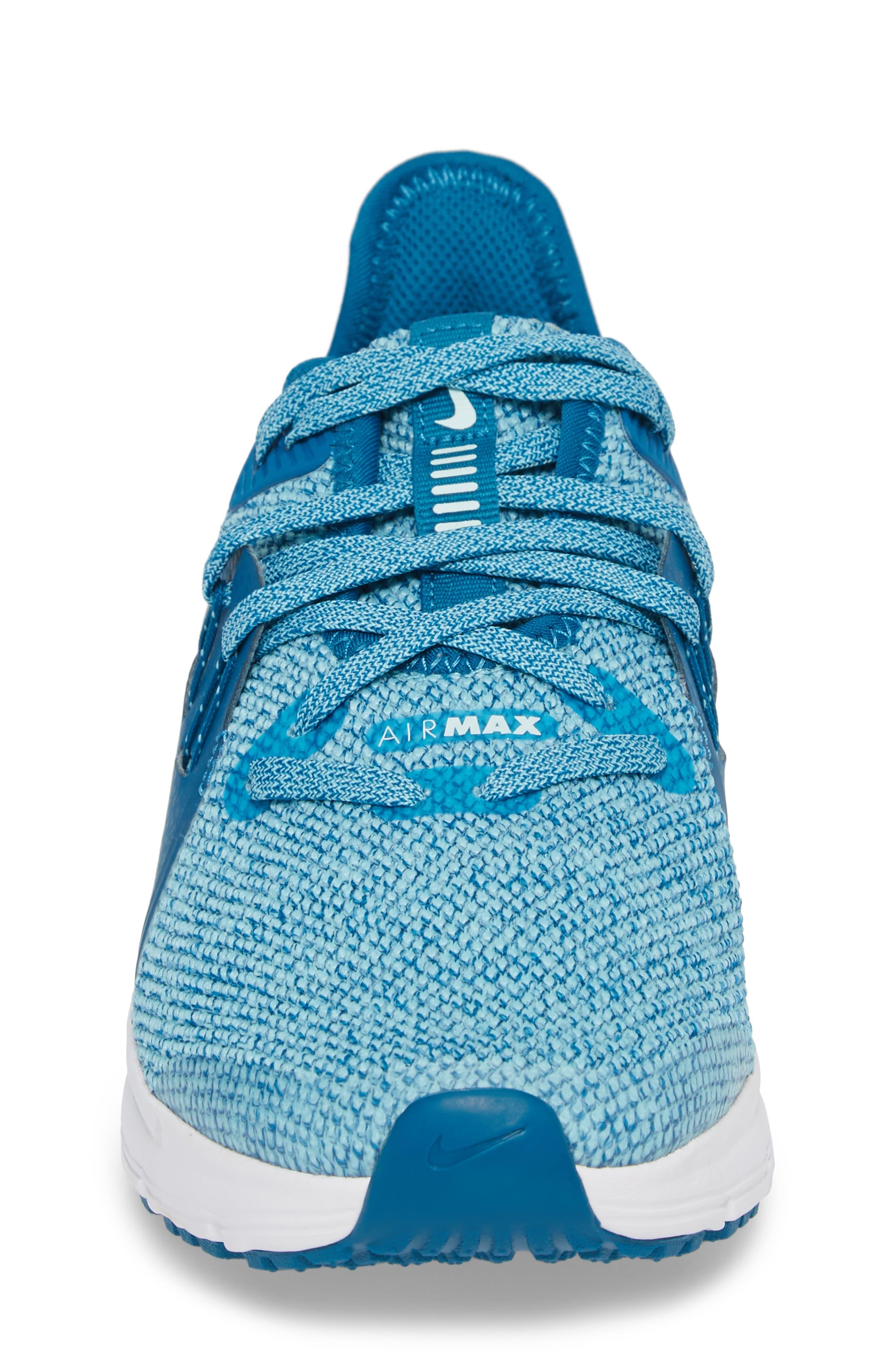 Air Max Sequent 3 GS Running Shoe,                             Alternate thumbnail 5, color,                             Green/ Igloo/ Bleached Aqua