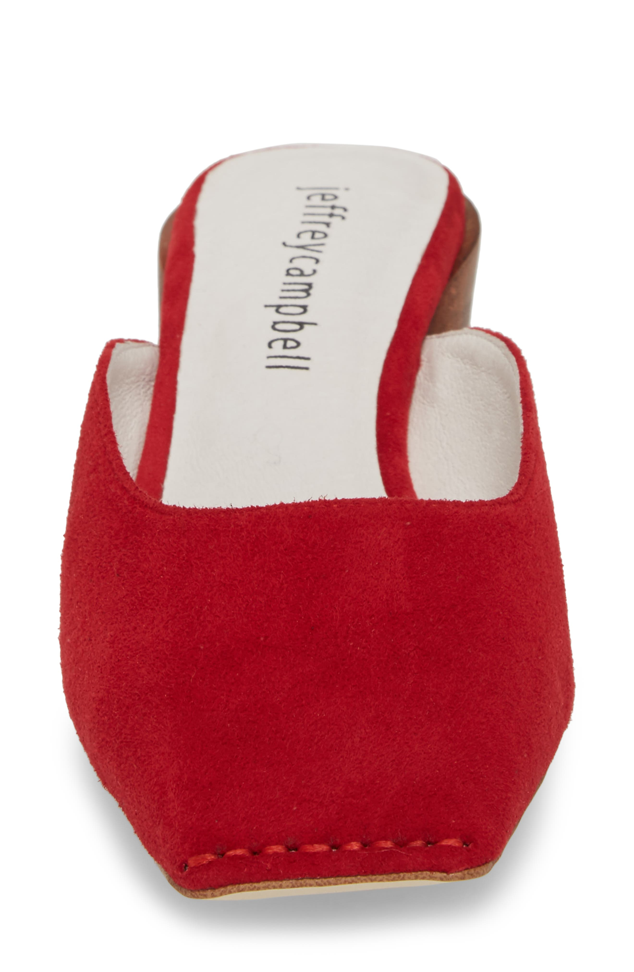 Lakme Mule,                             Alternate thumbnail 4, color,                             Red Suede