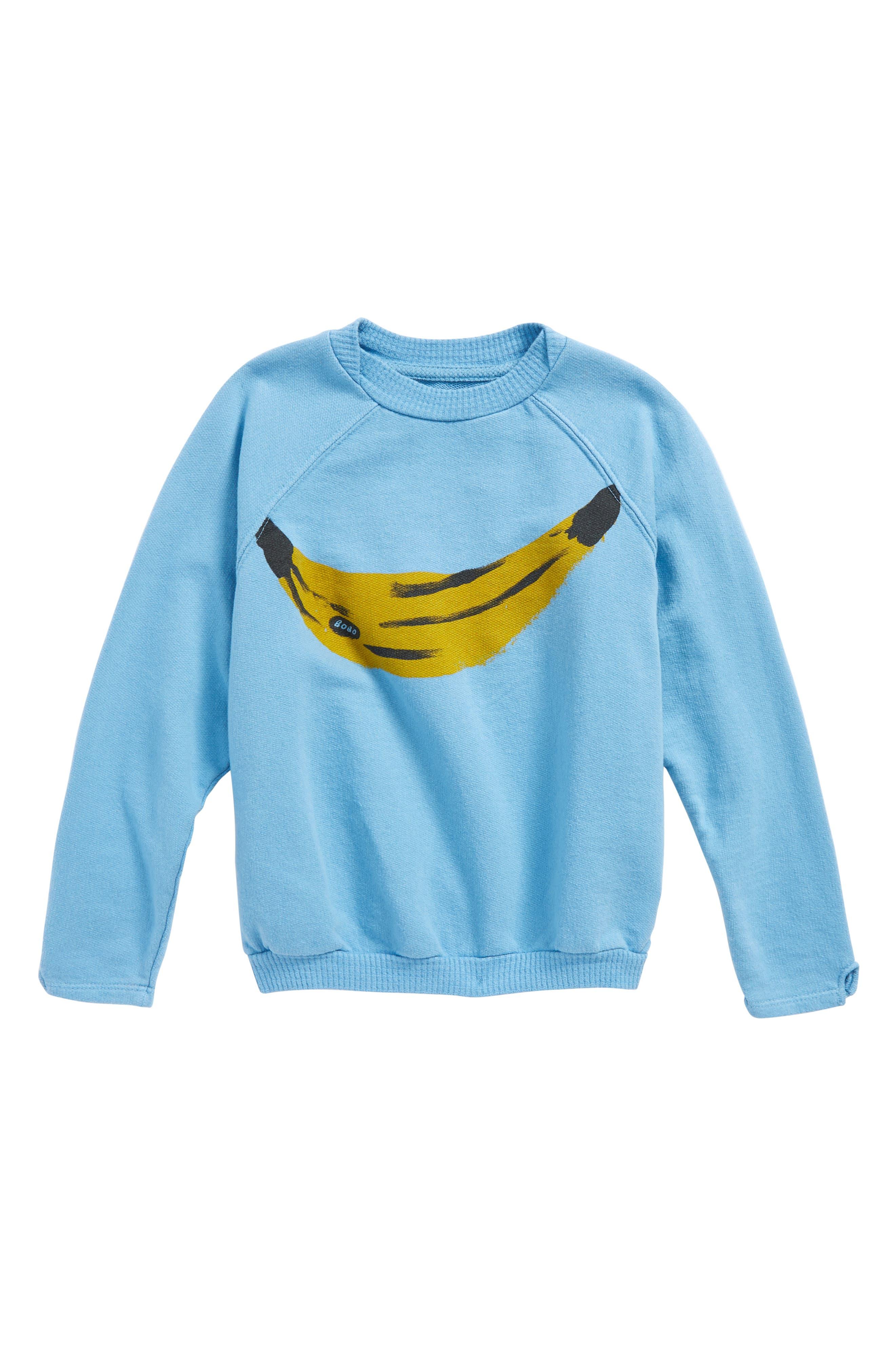 Banana Organic Cotton Sweatshirt,                         Main,                         color, Heritage Blue