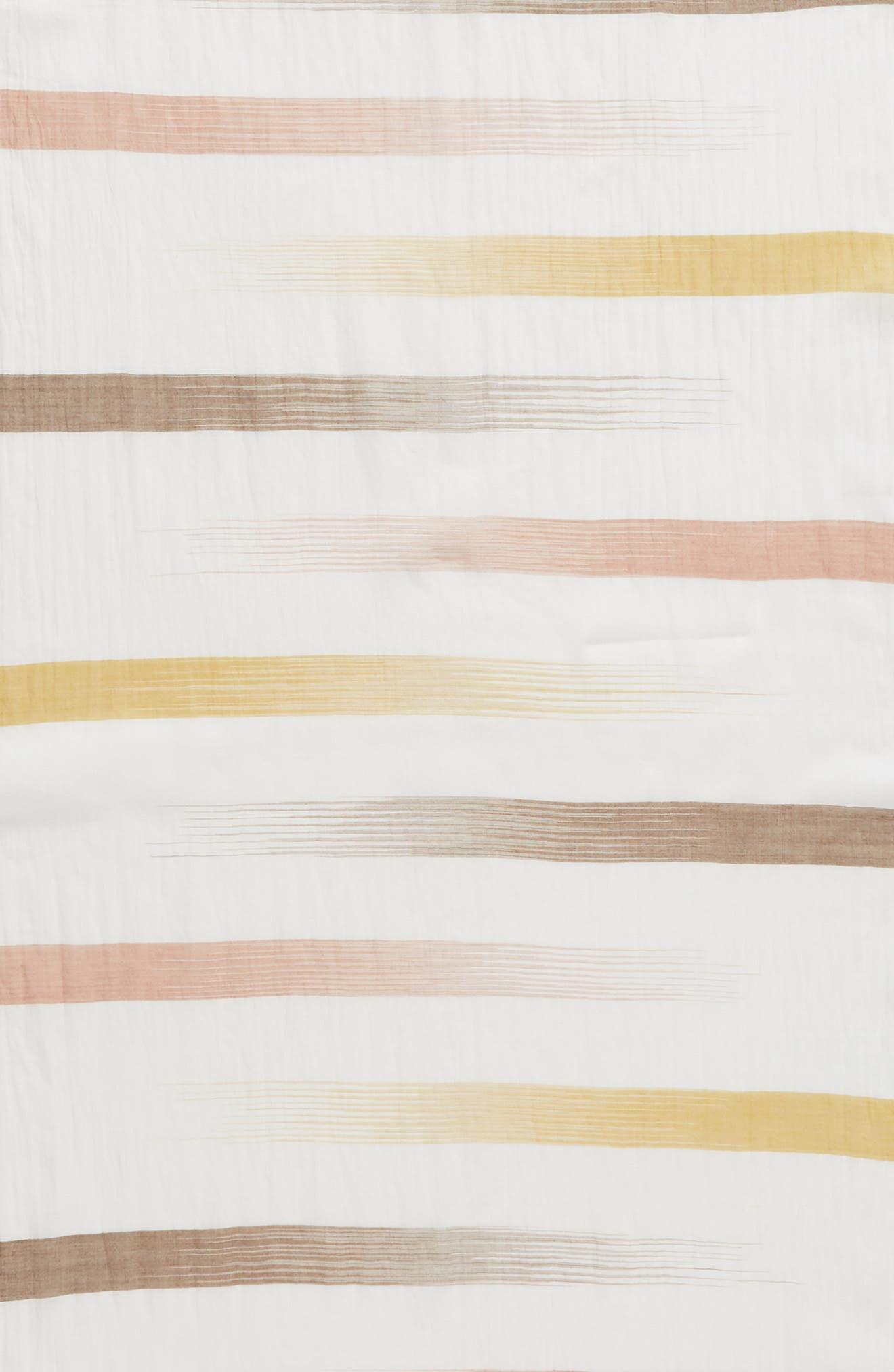 Organic Cotton Scarf,                             Alternate thumbnail 4, color,                             Mustard Seed