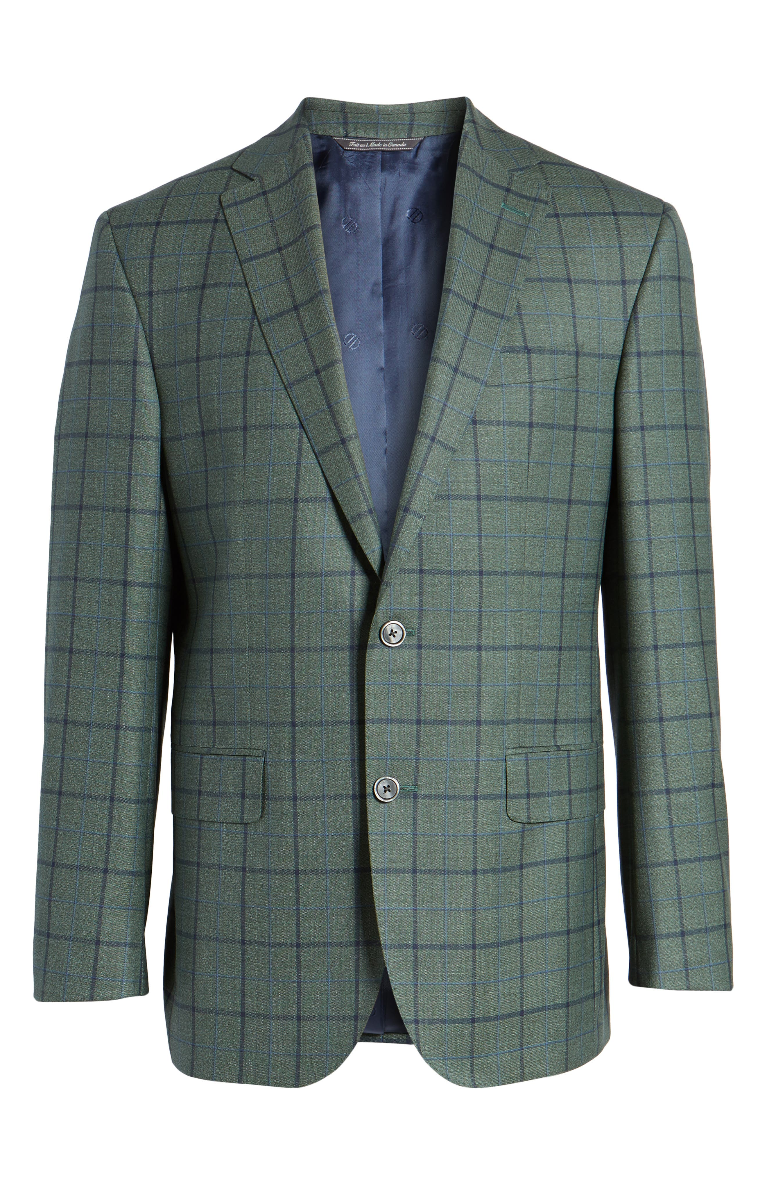 Connor Classic Fit Sport Coat,                             Alternate thumbnail 6, color,                             Green