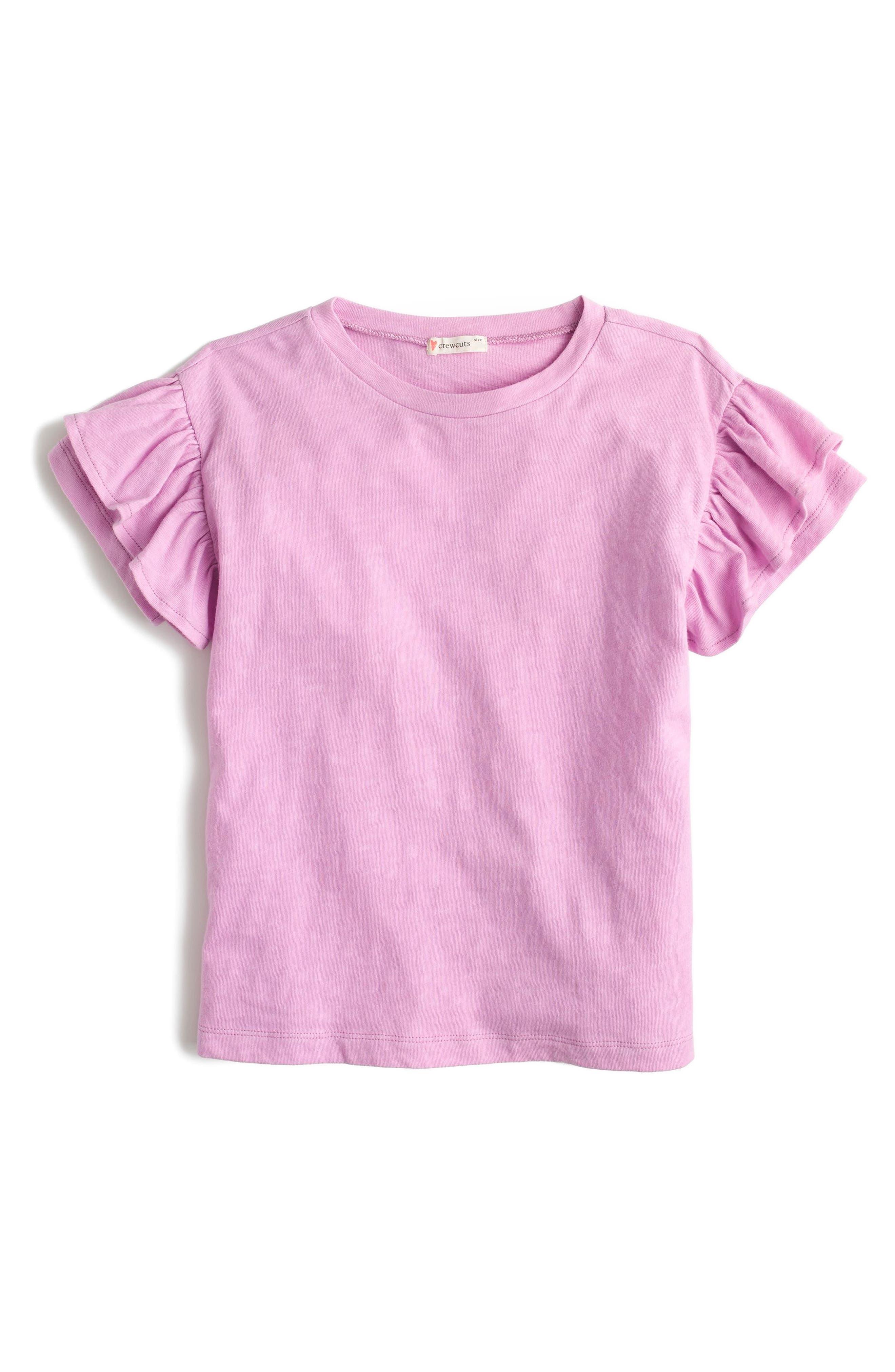 Flutter Sleeve T-Shirt,                             Main thumbnail 1, color,                             Neon Orchid