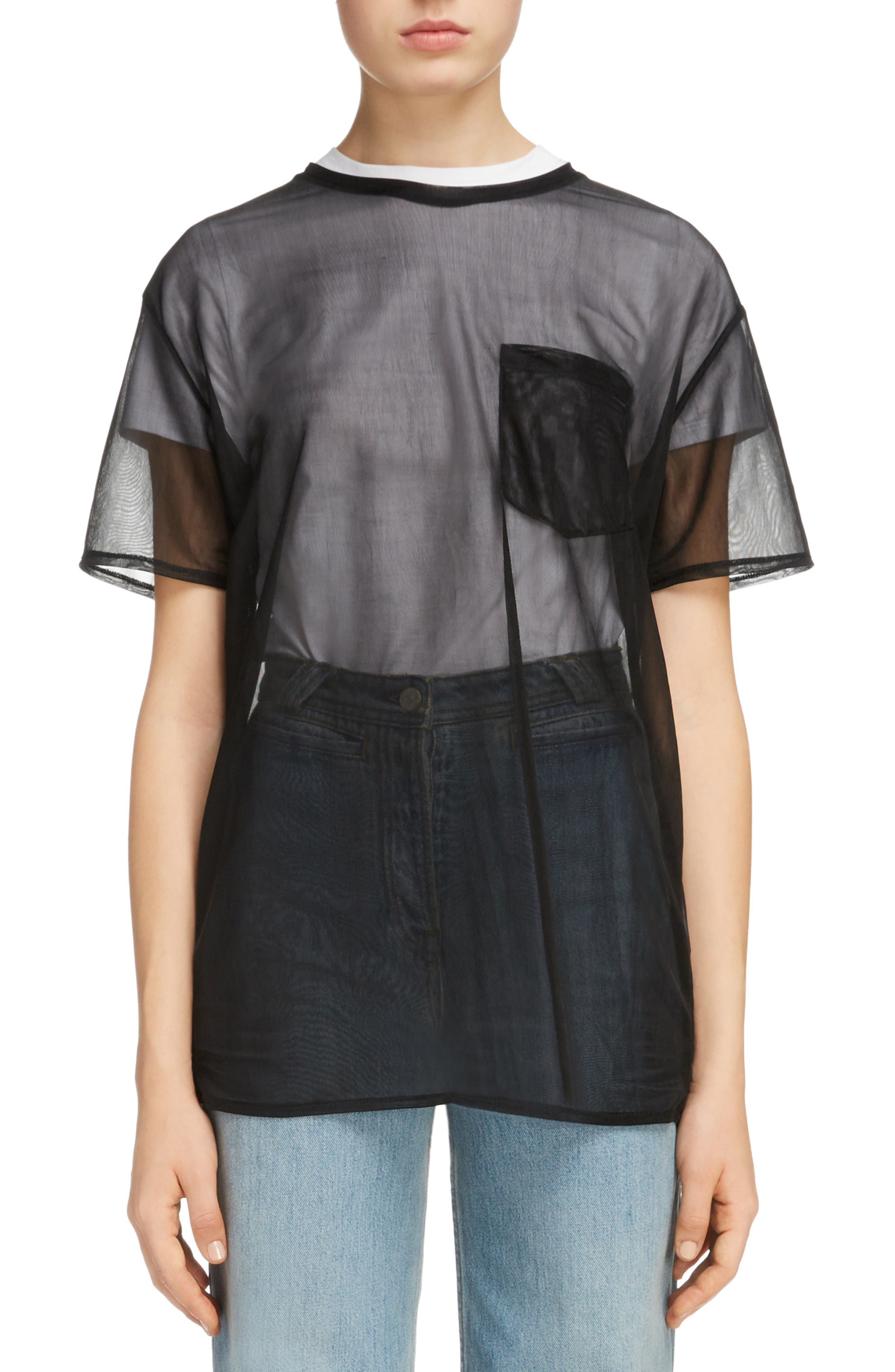 Batumy Mesh Pocket Tee,                         Main,                         color, Black