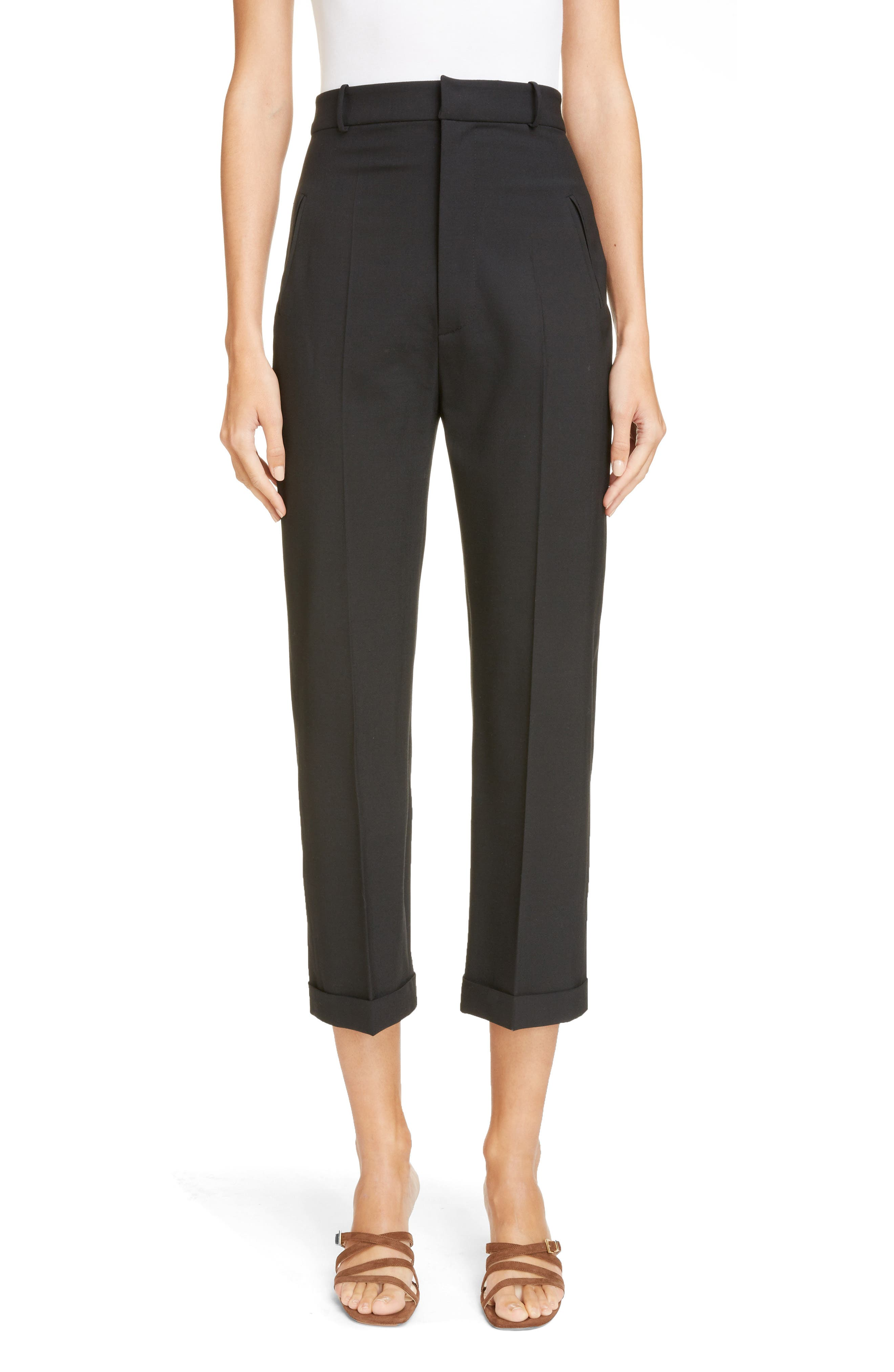 Jacquemus Le Pantalon High Waist Crop Pants