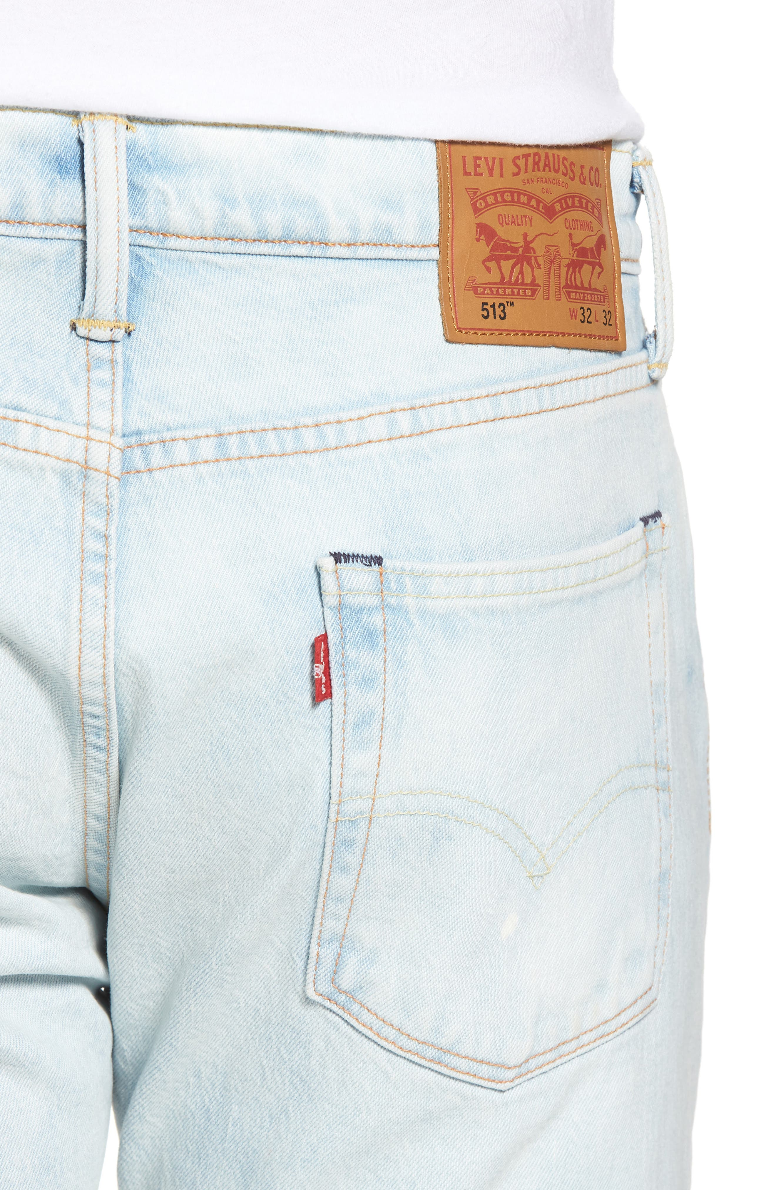 513<sup>™</sup> Slim Straight Leg Jeans,                             Alternate thumbnail 4, color,                             Soul Me