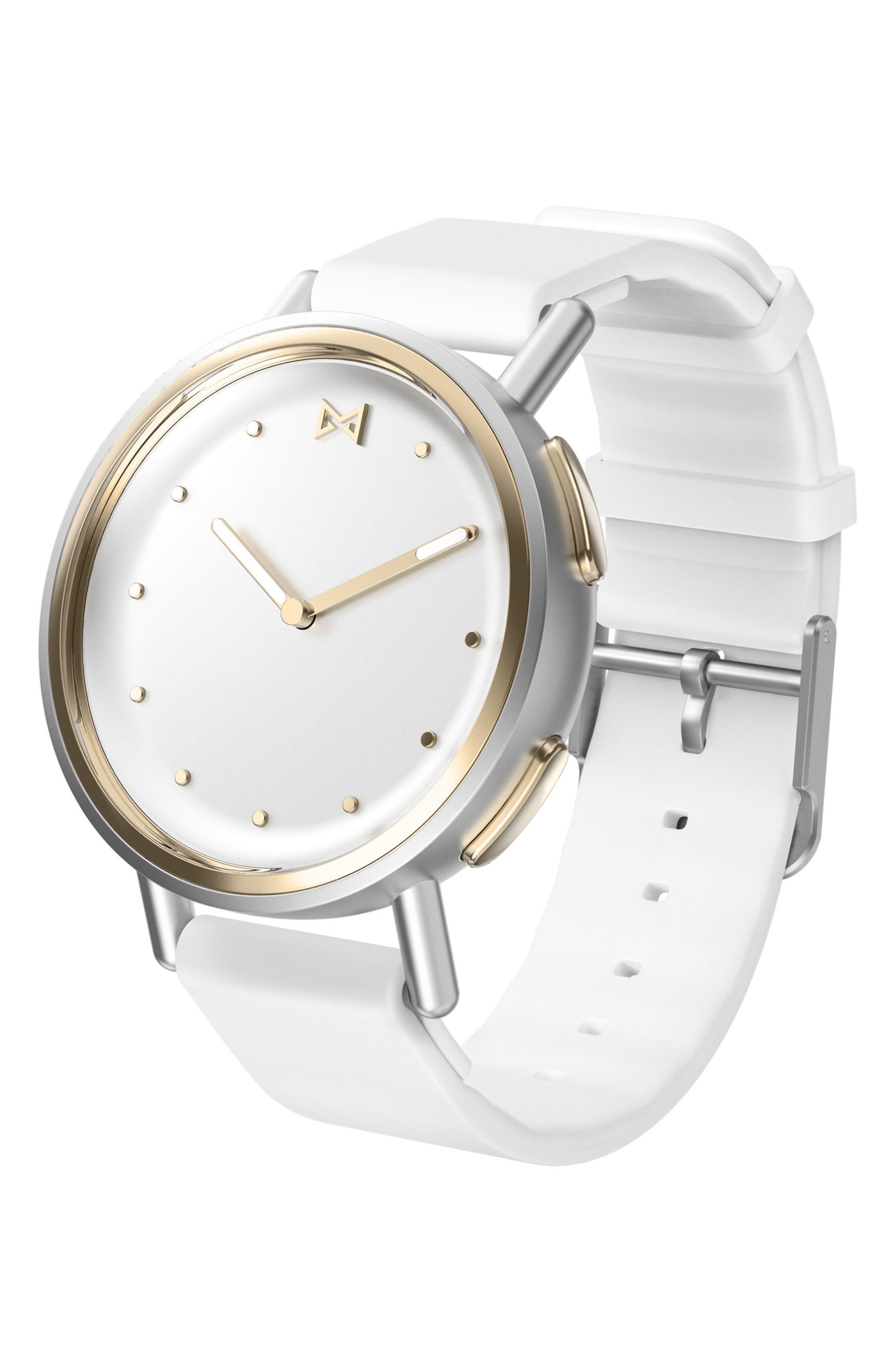 Path Strap Smartwatch, 36mm,                             Main thumbnail 1, color,                             White