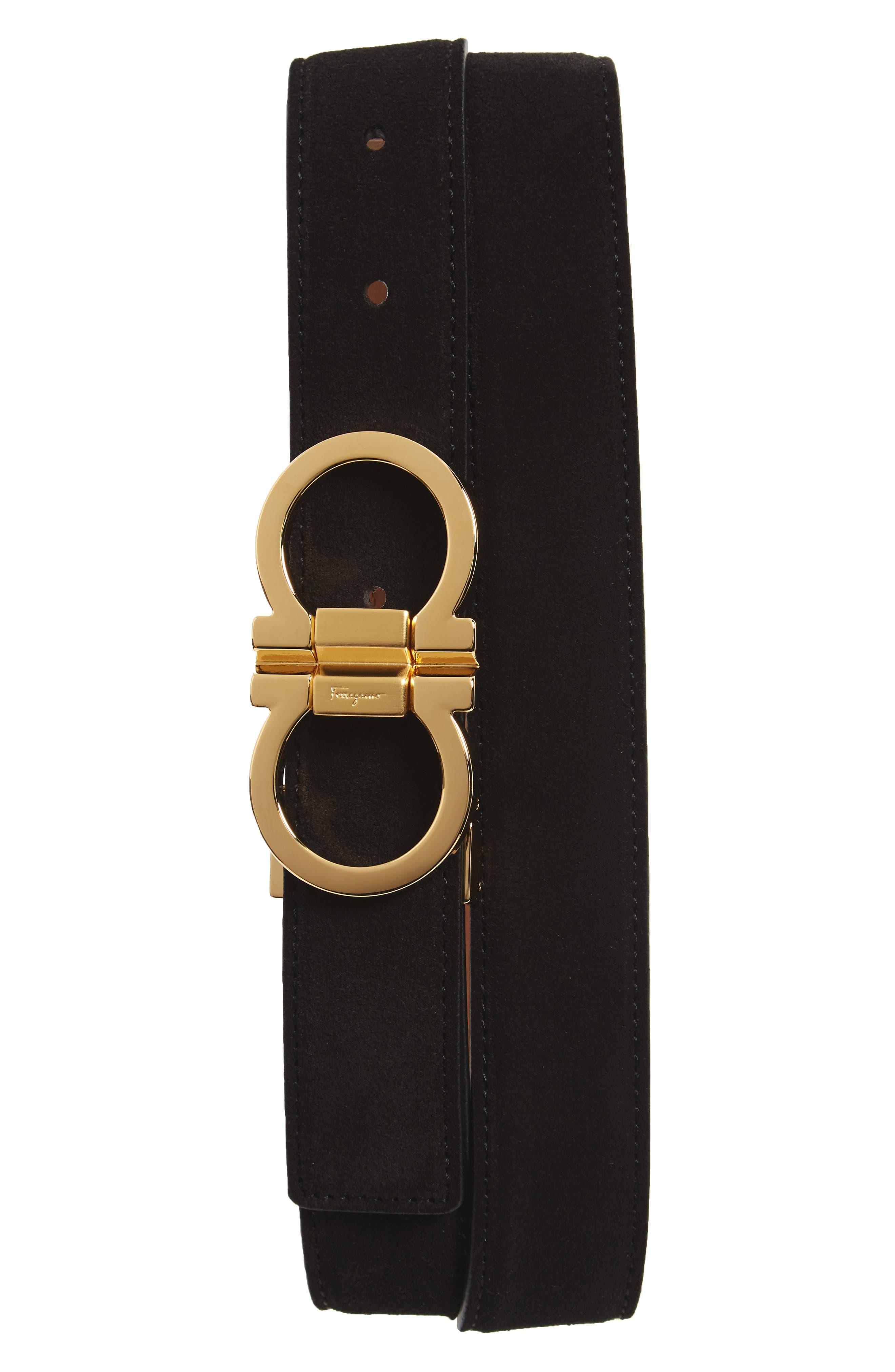 Suede Belt,                             Main thumbnail 1, color,                             Black