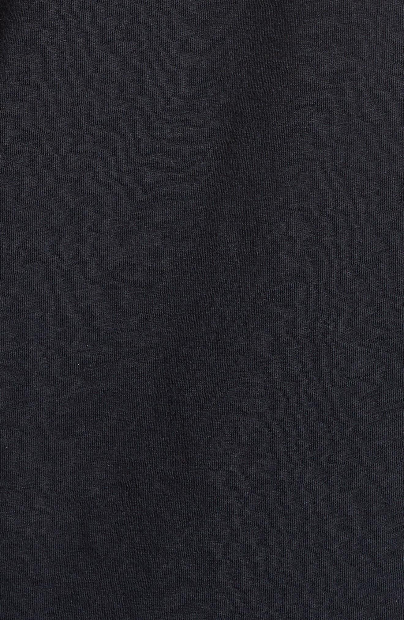 The Rolling Stones Trim Fit T-Shirt,                             Alternate thumbnail 5, color,                             Black Rolling Stones