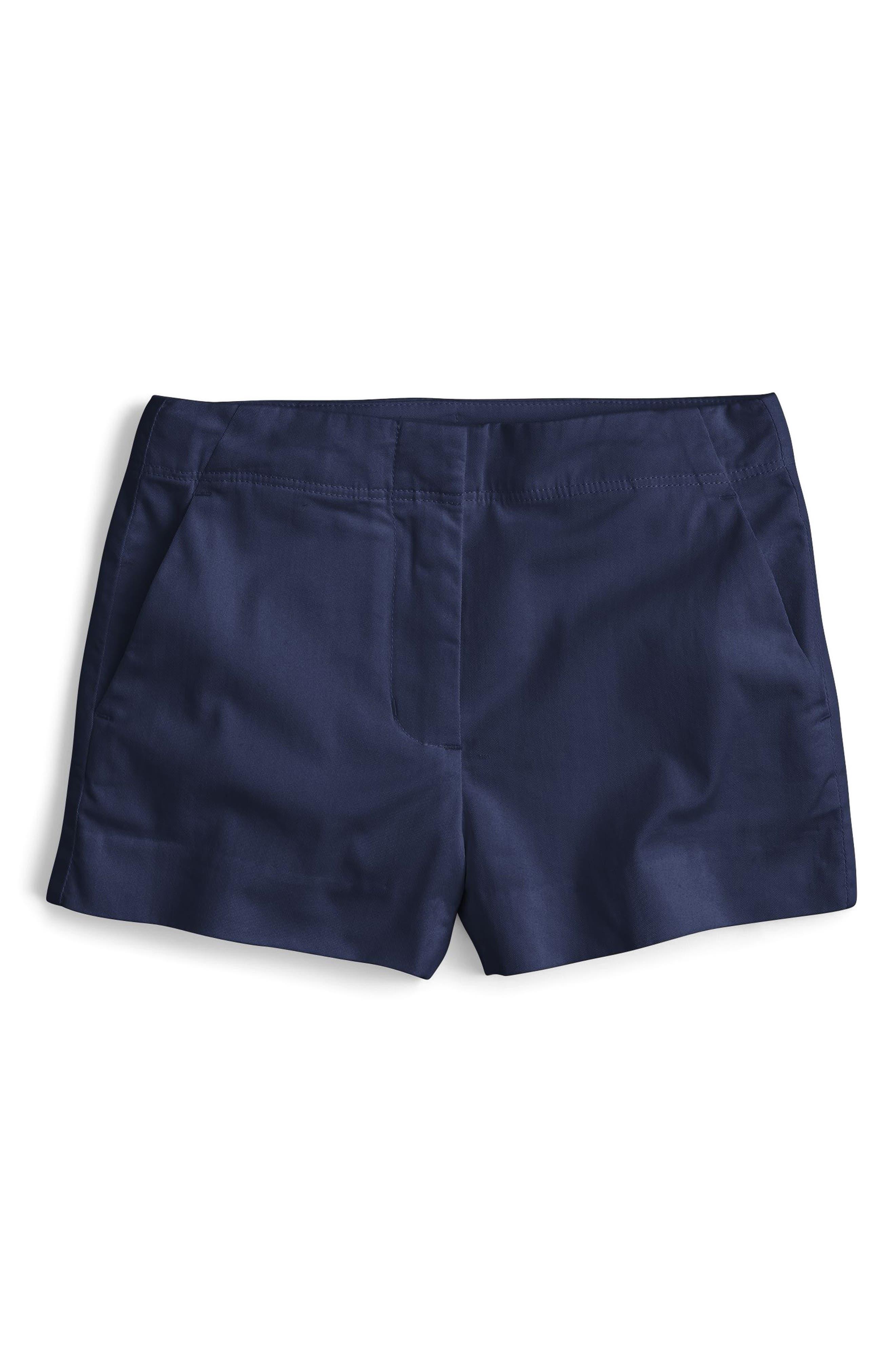 Frankie Stretch Cotton Shorts,                             Main thumbnail 1, color,                             Indigo