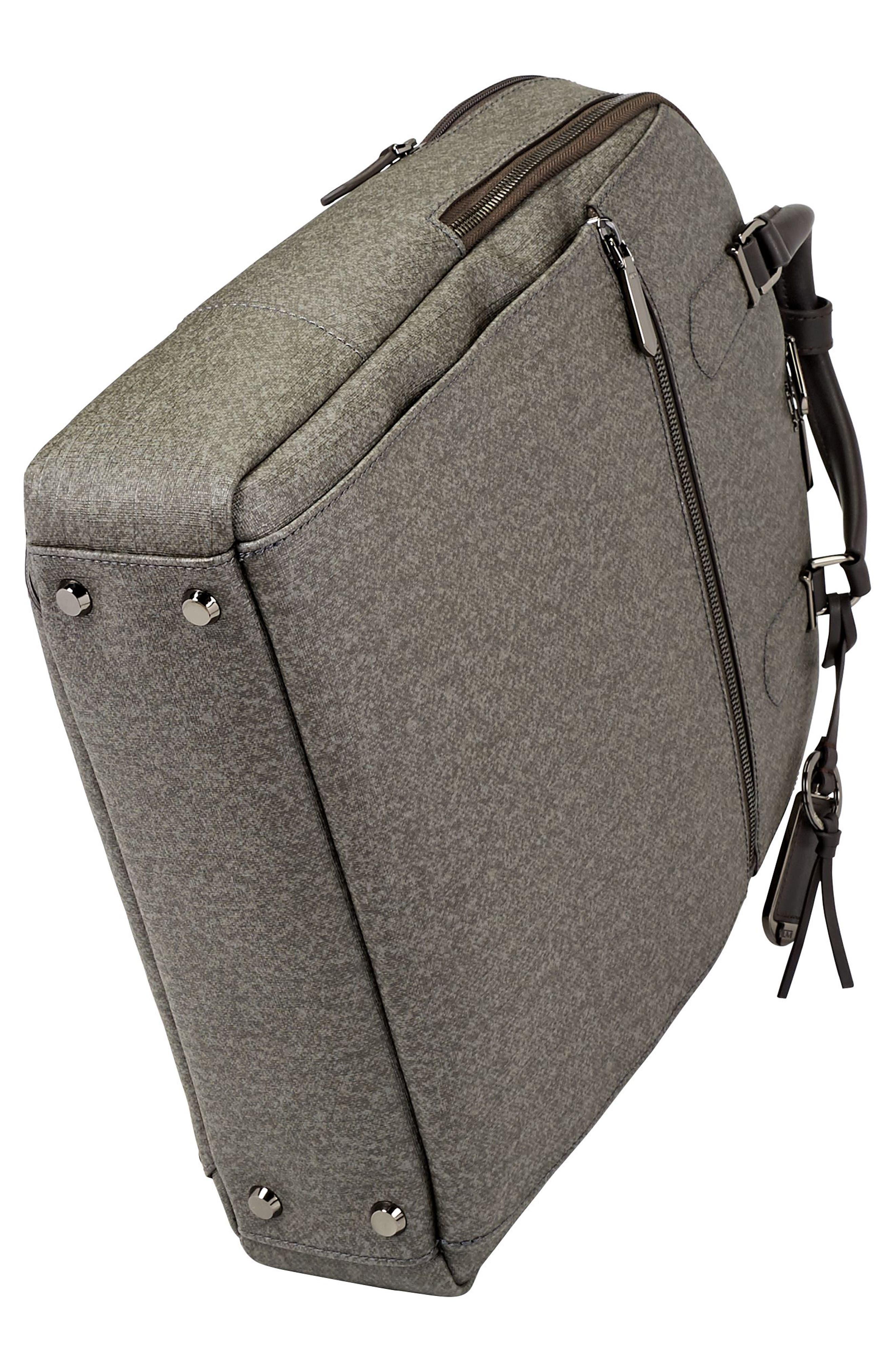 Stanton Orion Coated Canvas Backpack,                             Alternate thumbnail 5, color,                             Earl Grey