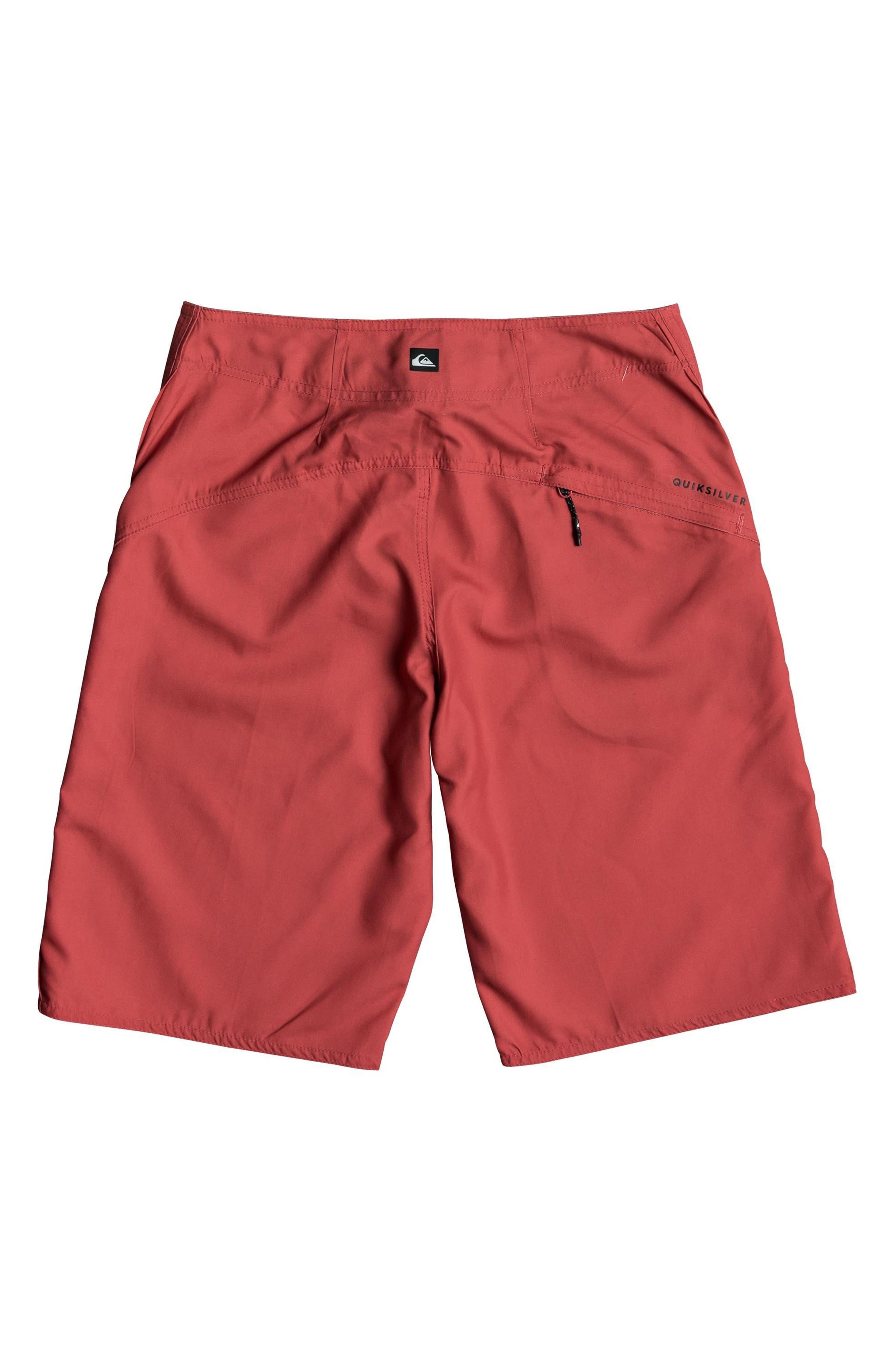 Highline Kaimana Board Shorts,                             Alternate thumbnail 2, color,                             Red