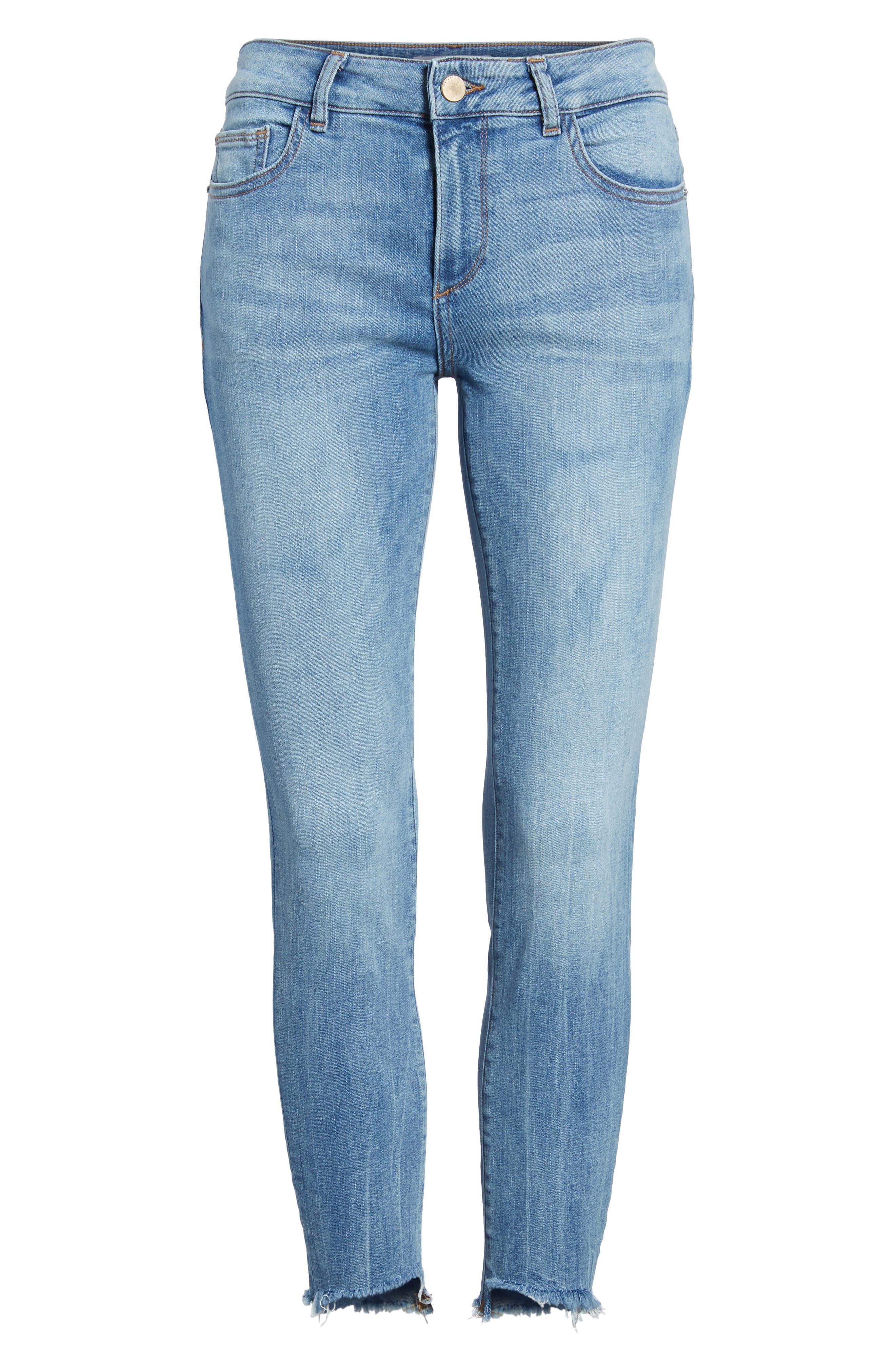Florence Instasculpt Crop Skinny Jeans,                             Alternate thumbnail 7, color,                             Cavalier