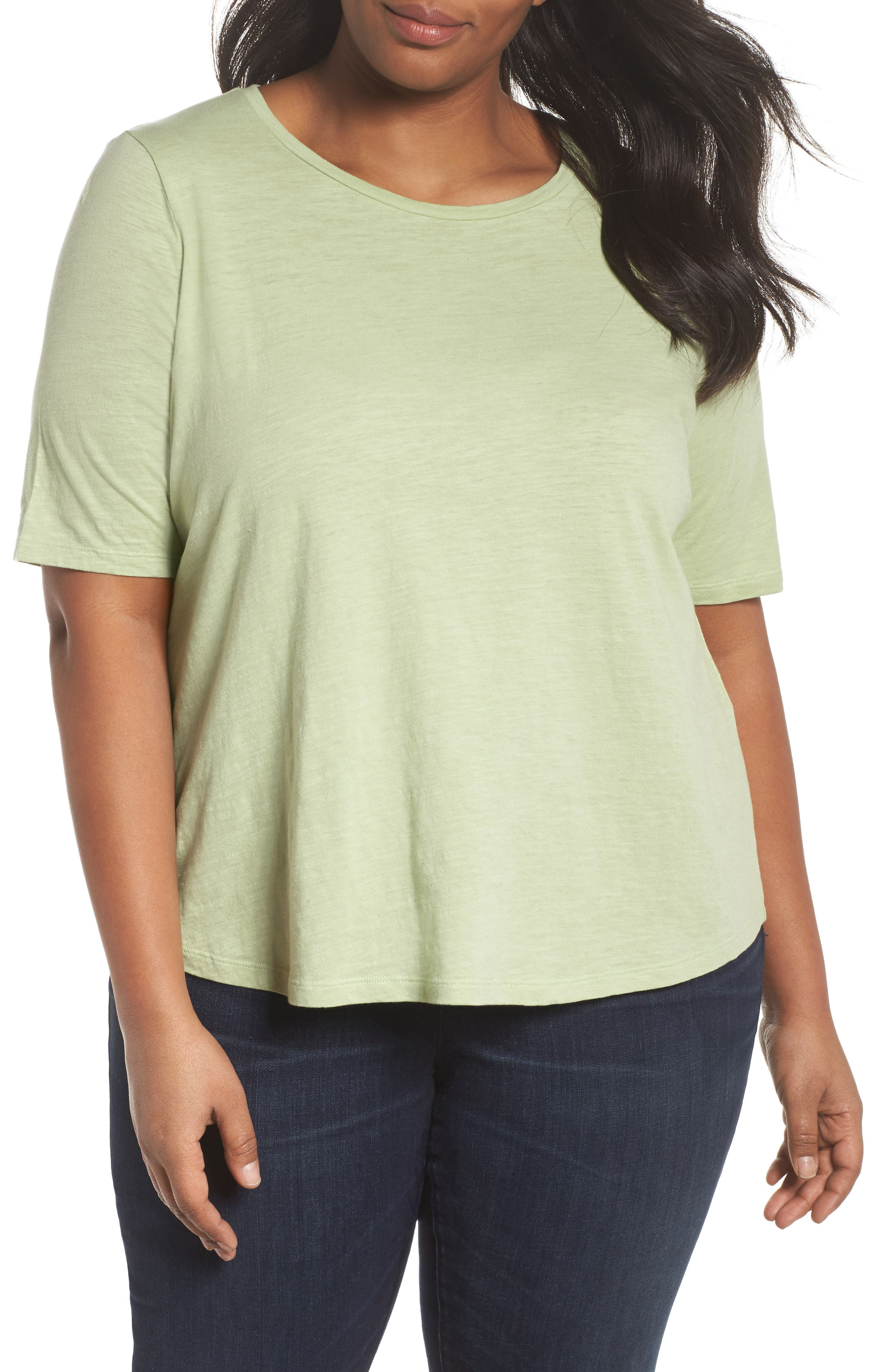 Eileen Fisher Crewneck Tee (Plus Size)
