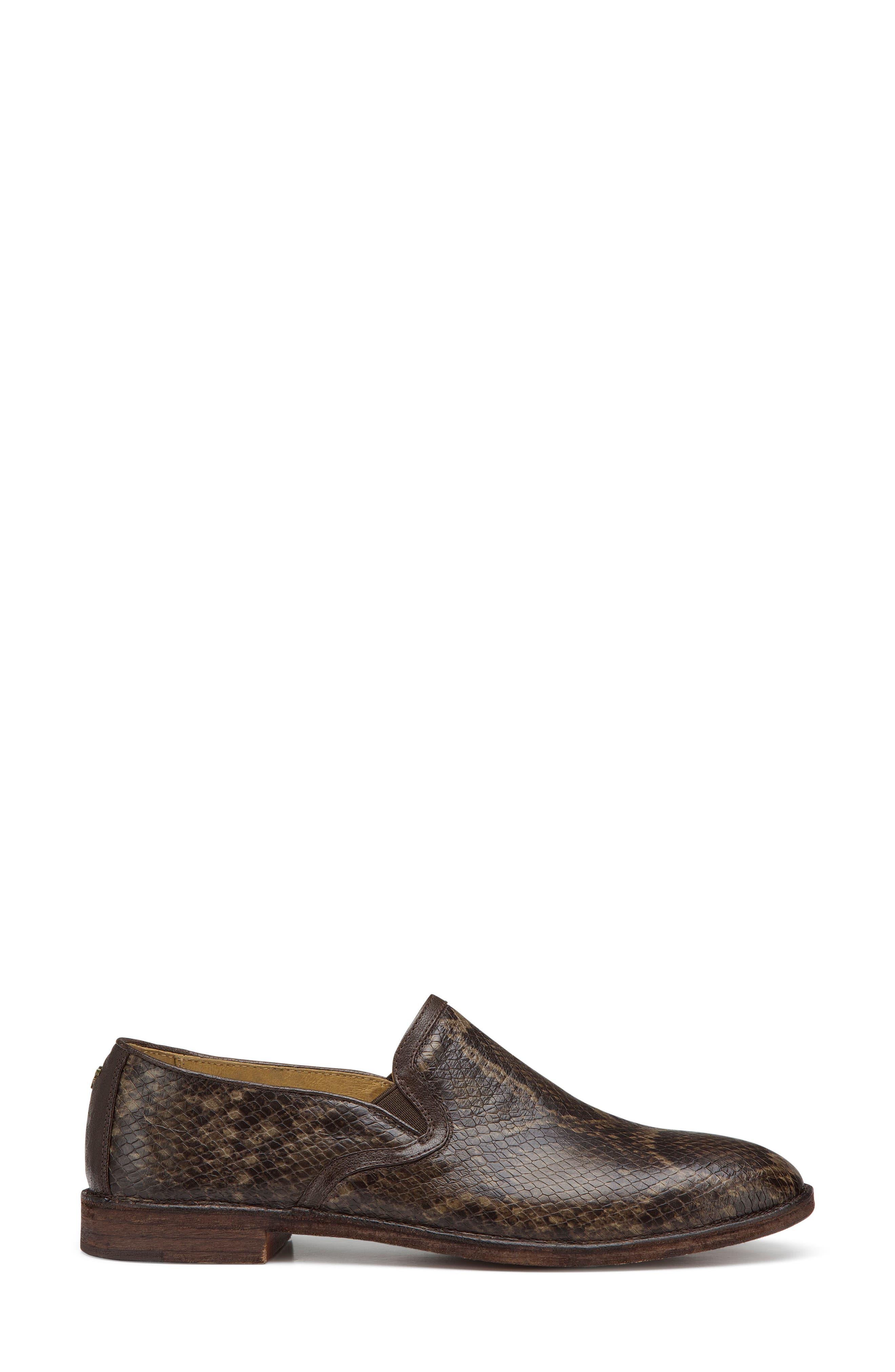'Ali' Flat,                             Alternate thumbnail 3, color,                             Brown Print Leather
