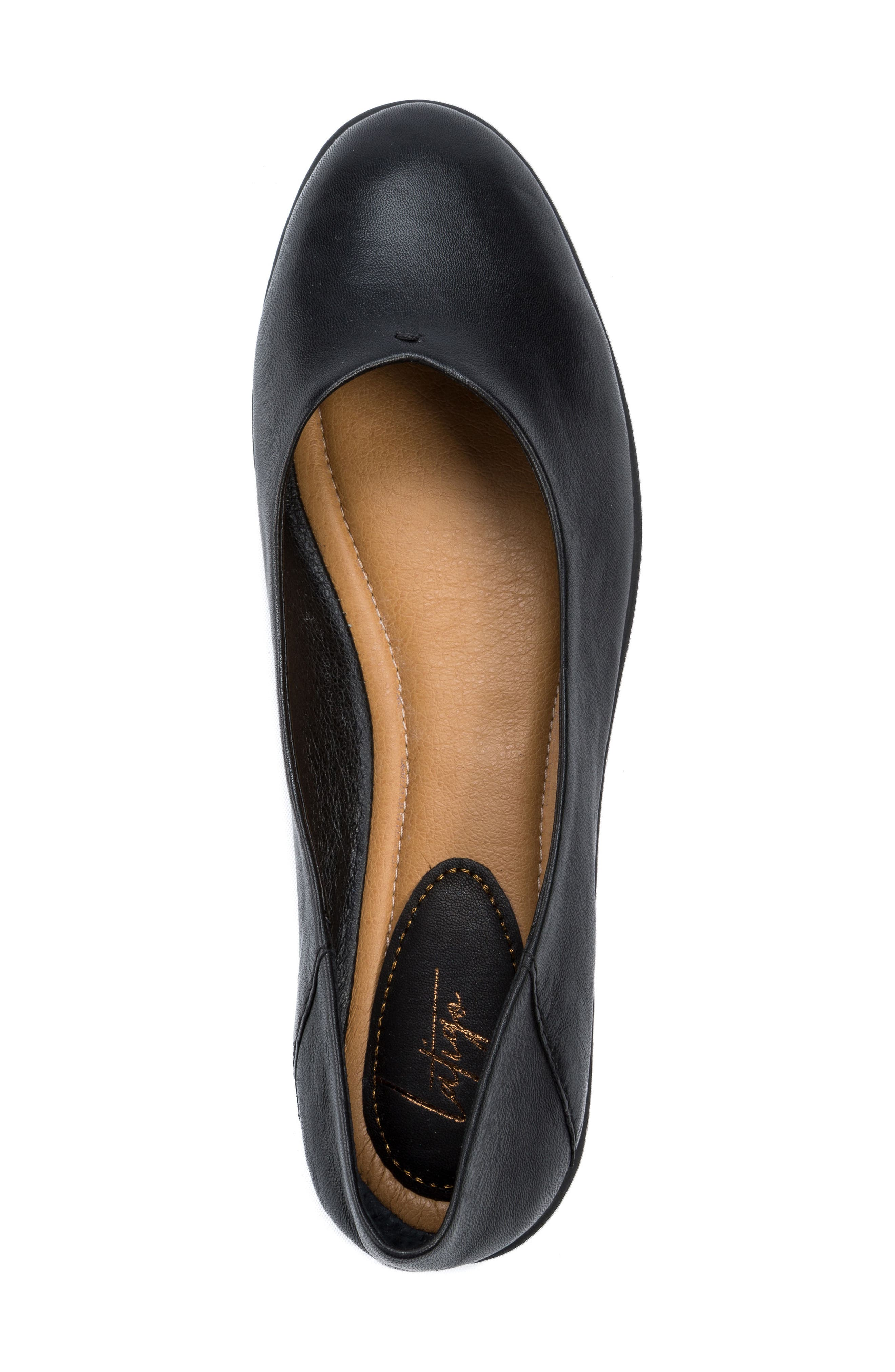 Natalia Flat,                             Alternate thumbnail 5, color,                             Black Leather