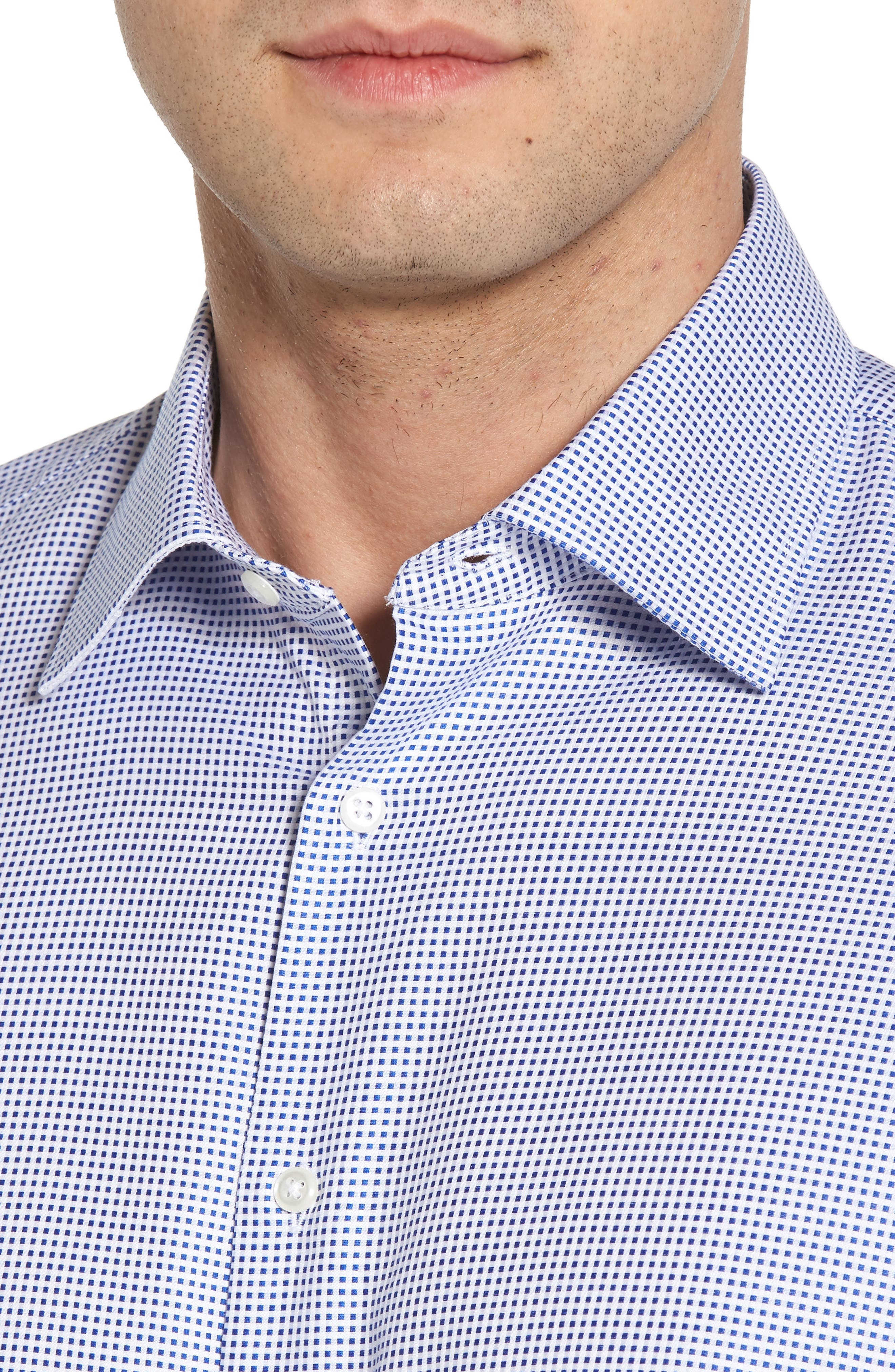 Alternate Image 4  - Nordstrom Men's Shop Classic Fit Microcheck Dress Shirt
