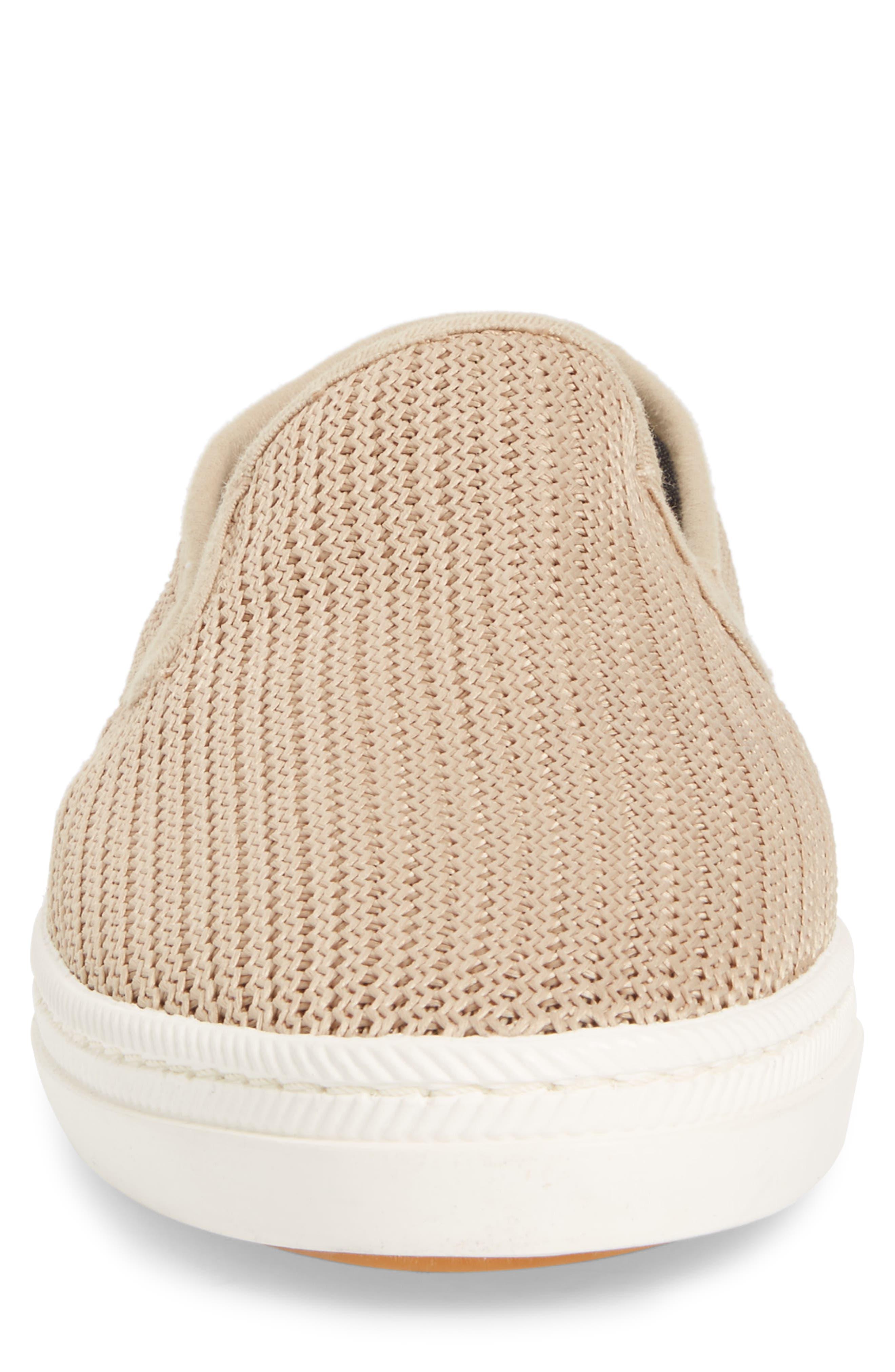 Viktor Woven Slip-On Sneaker,                             Alternate thumbnail 4, color,                             Dry Sand