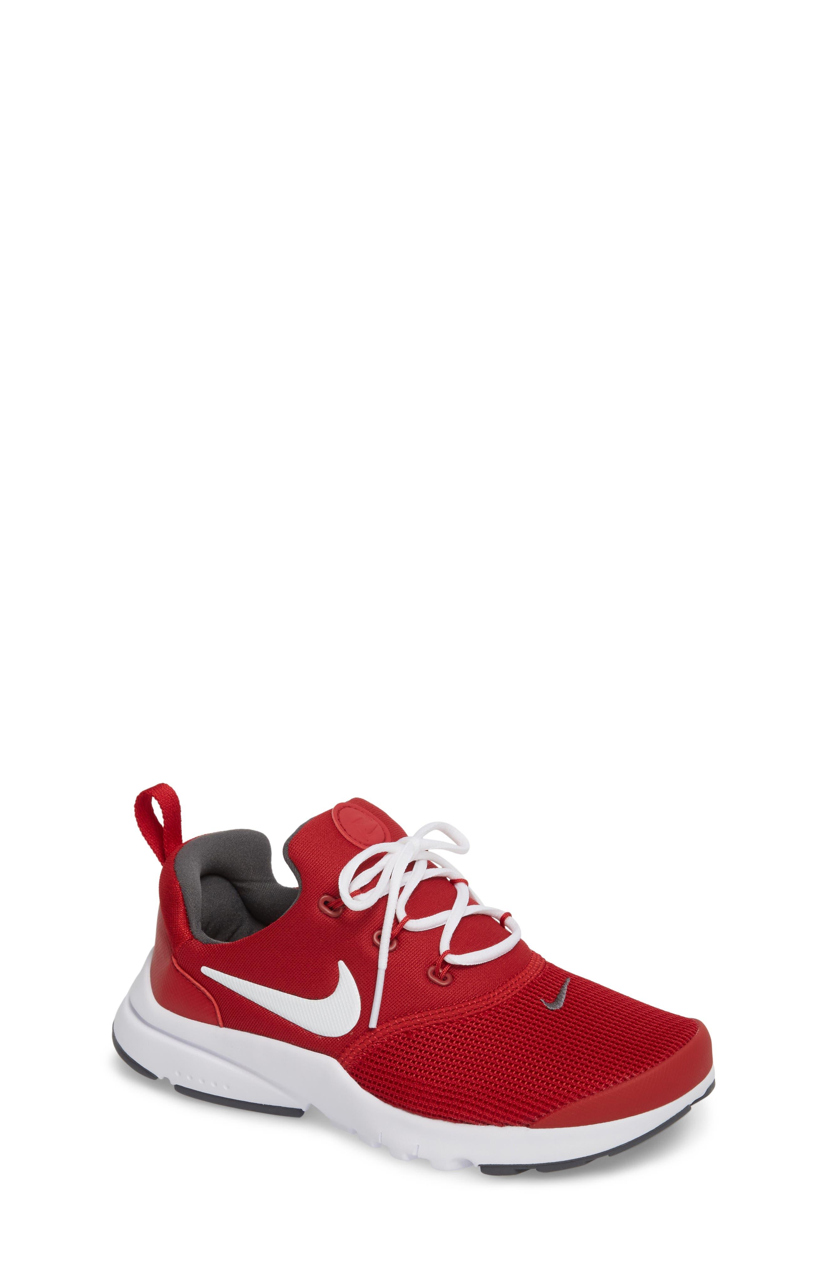 Presto Fly Sneaker,                             Main thumbnail 1, color,                             Gym Red/ Dark Grey/ White