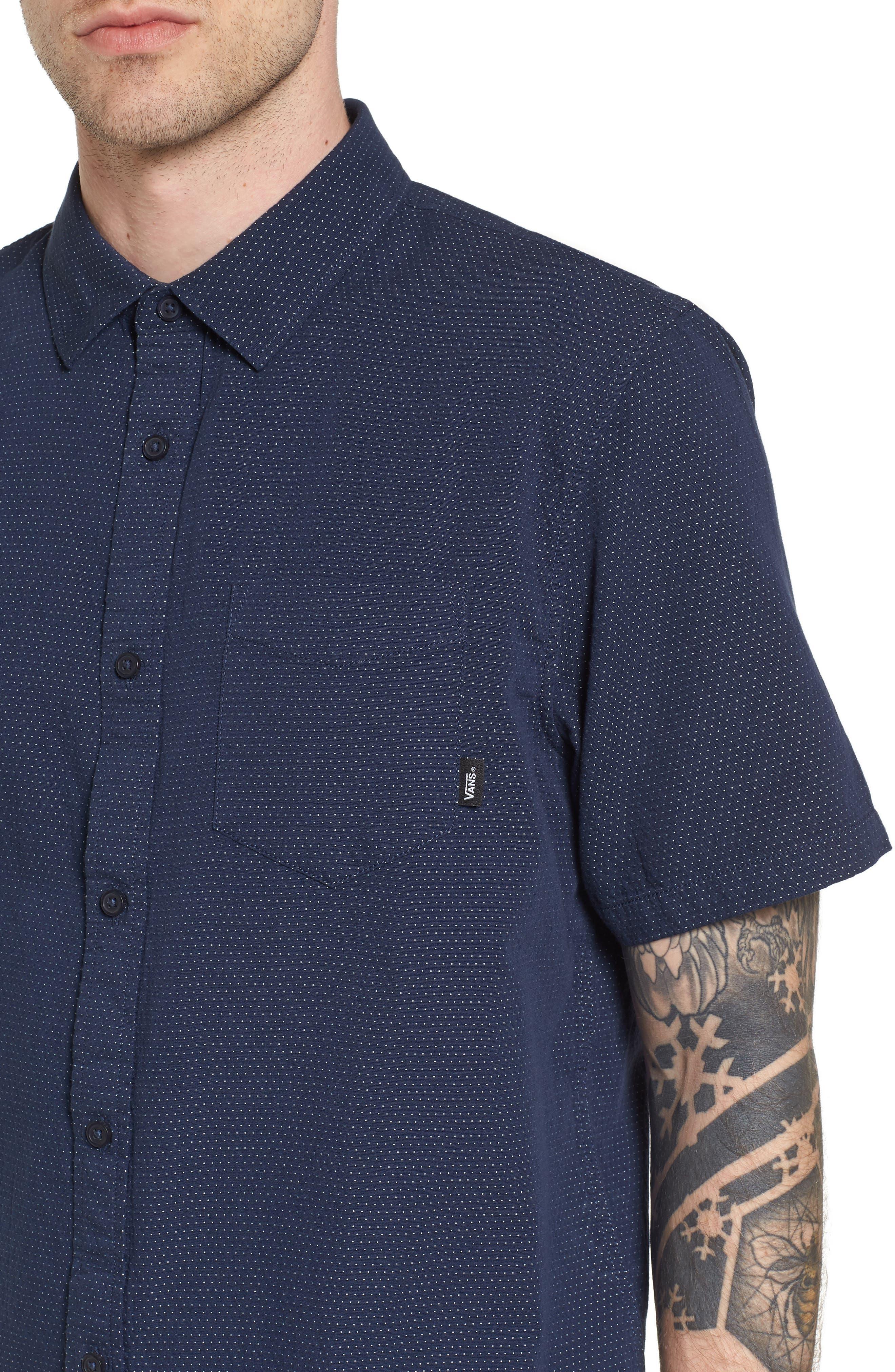 Giddings Short Sleeve Shirt,                             Alternate thumbnail 4, color,                             Dress Blues