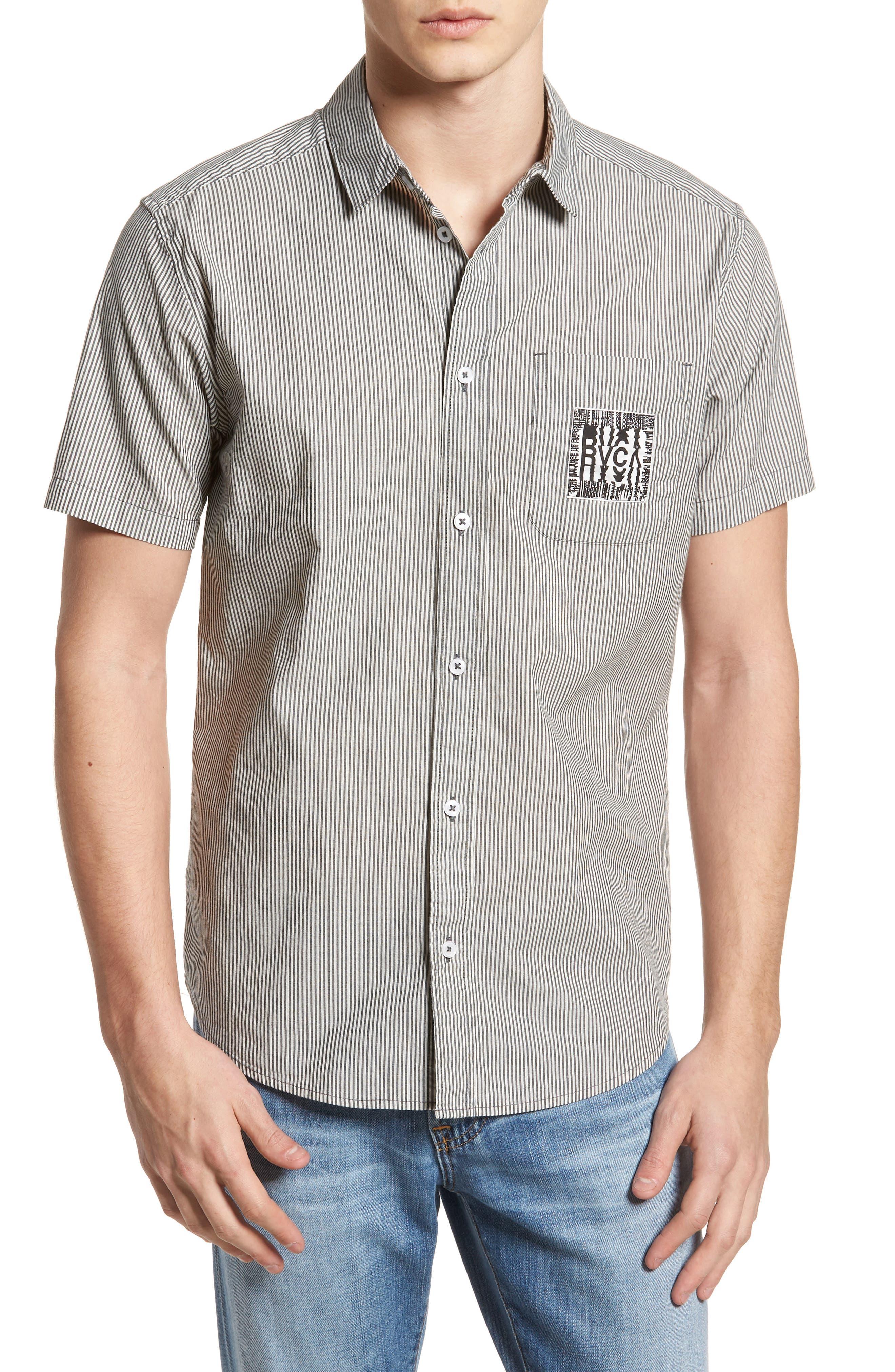 resort Disruption Woven Shirt,                         Main,                         color, Black
