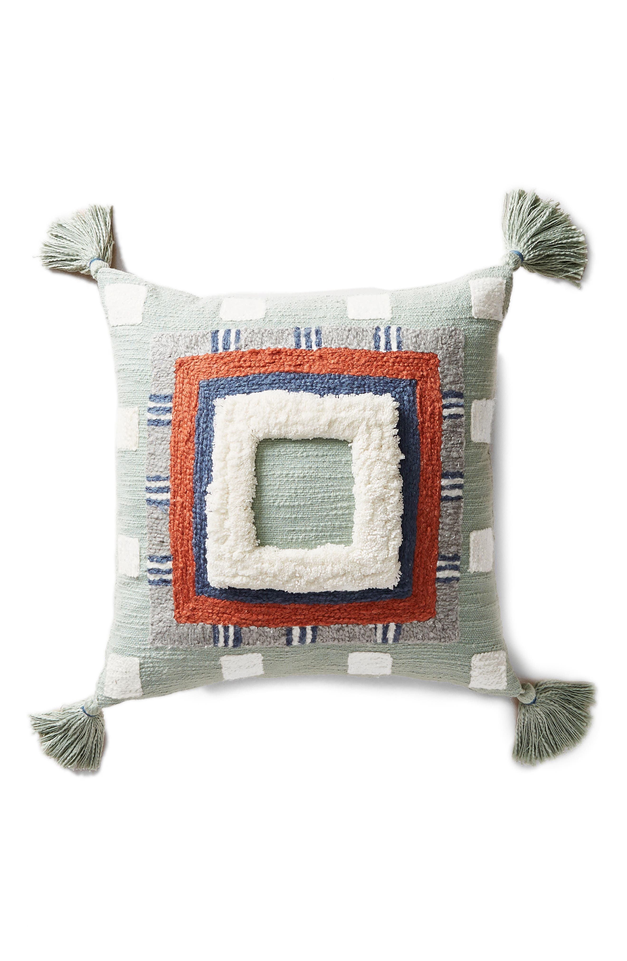 Rayas Accent Pillow,                             Alternate thumbnail 6, color,                             Wedgewood Blue