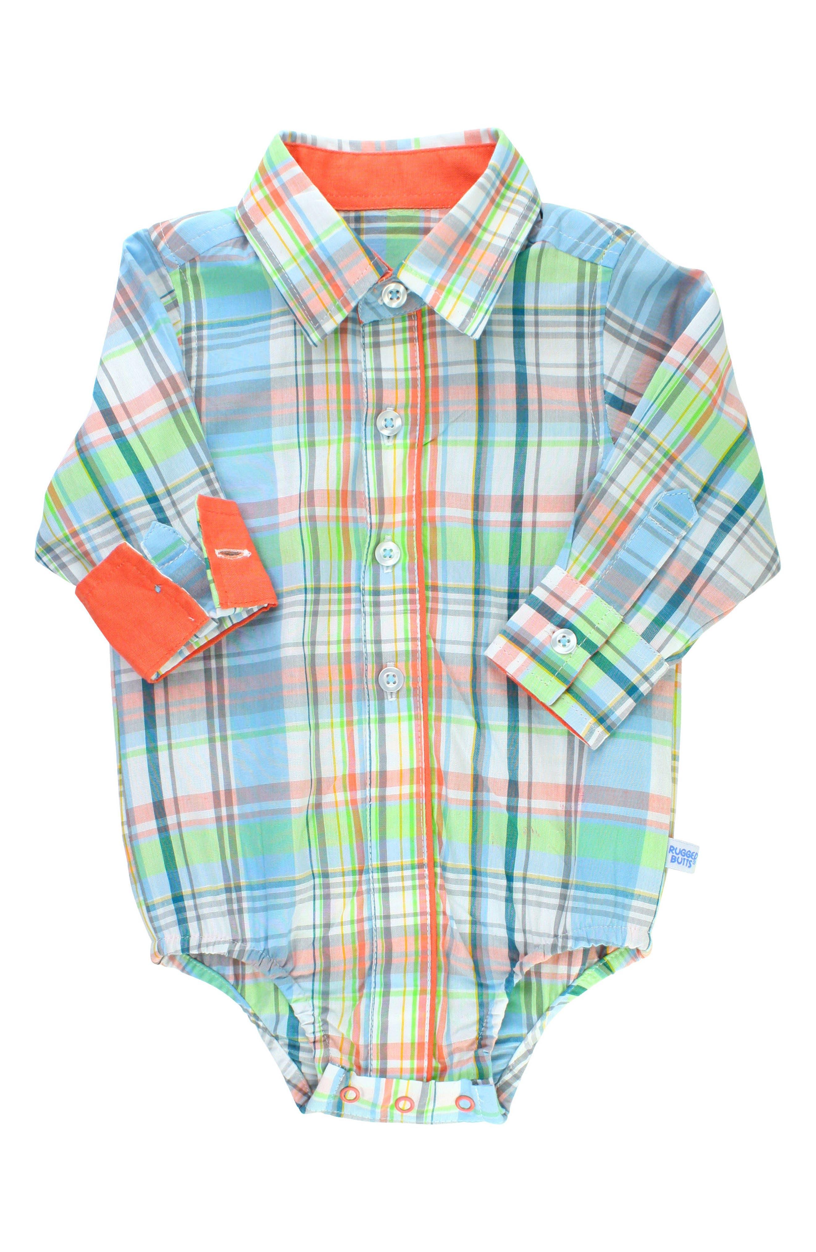 Plaid Bodysuit,                         Main,                         color, White