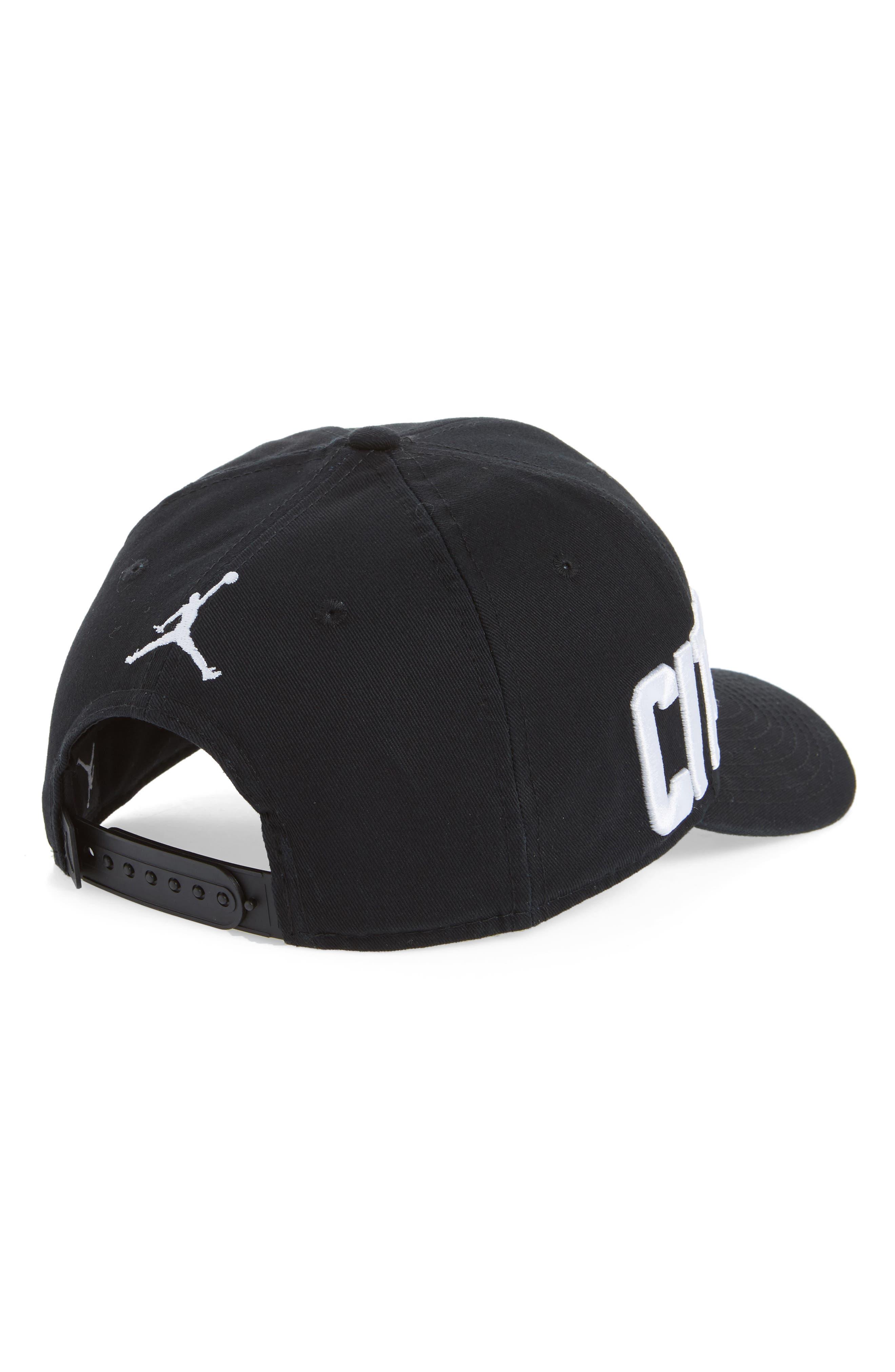 Jordan Jumpman Classic 99 COF Snapback Baseball Cap,                             Alternate thumbnail 2, color,                             Black/ White
