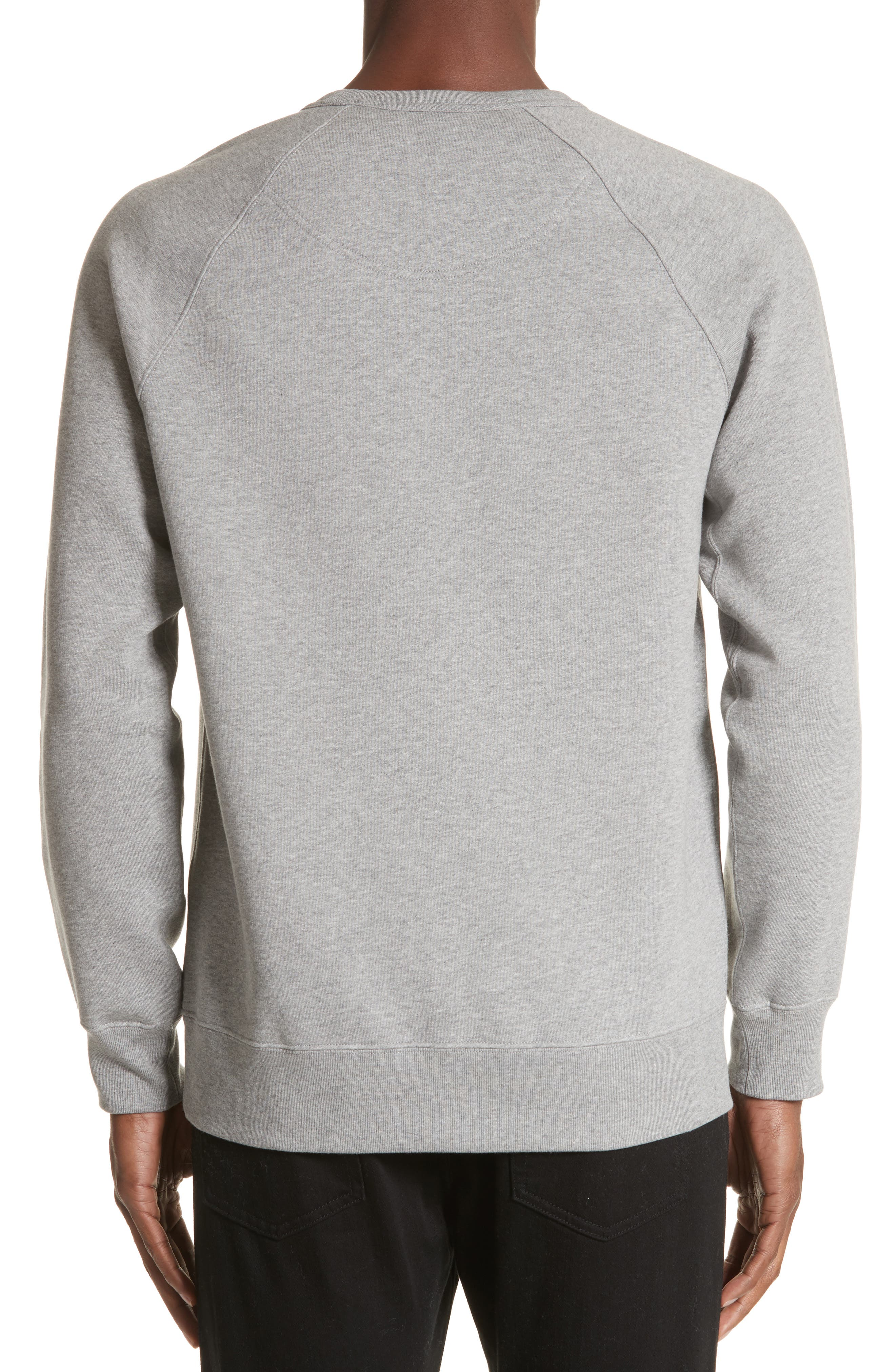 Kaneford Standard Fit Sweatshirt,                             Alternate thumbnail 2, color,                             Pale Grey Melange