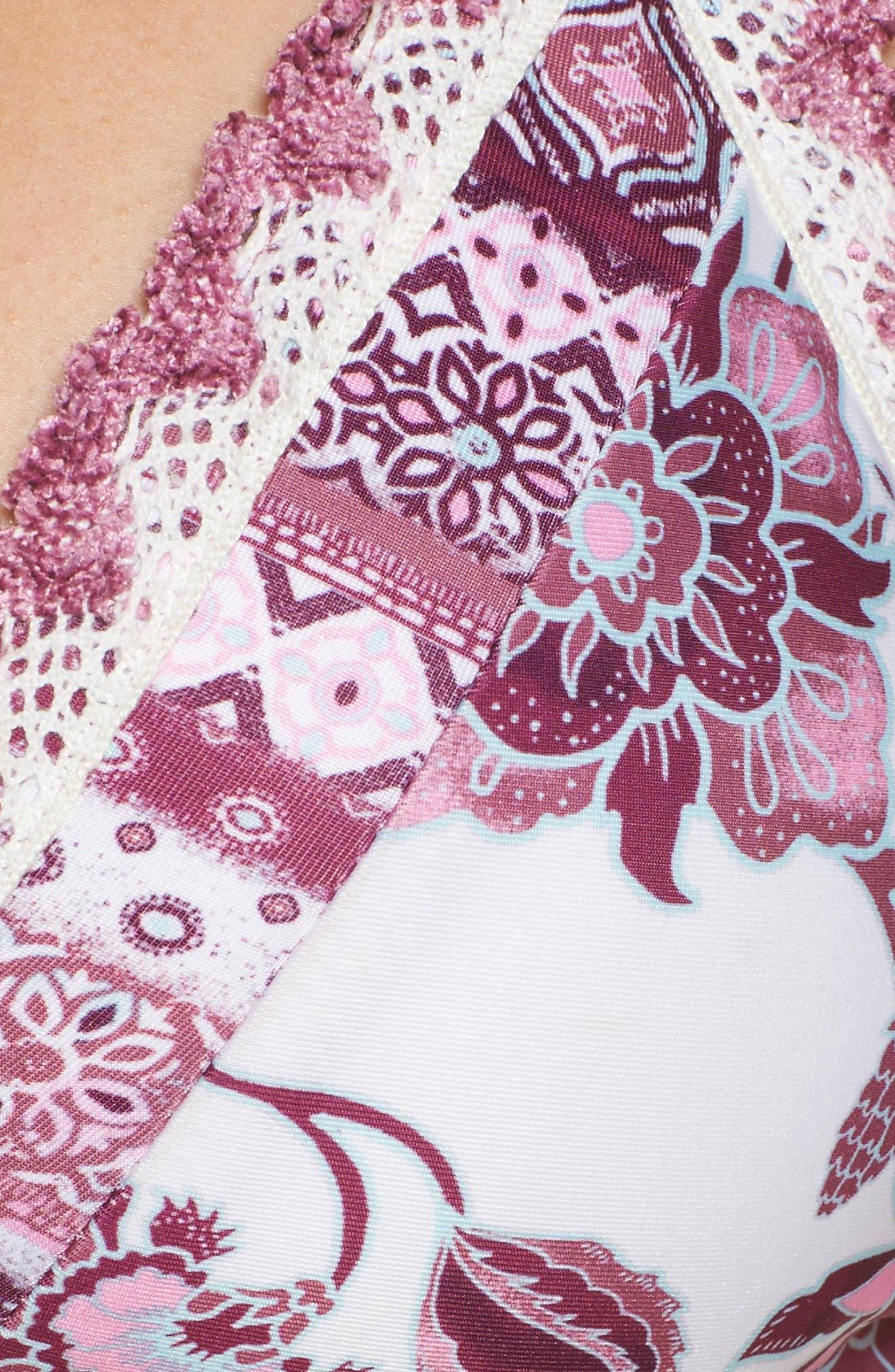 Tahiti Halter Bikini Top,                             Alternate thumbnail 8, color,                             White/ Pink Multi