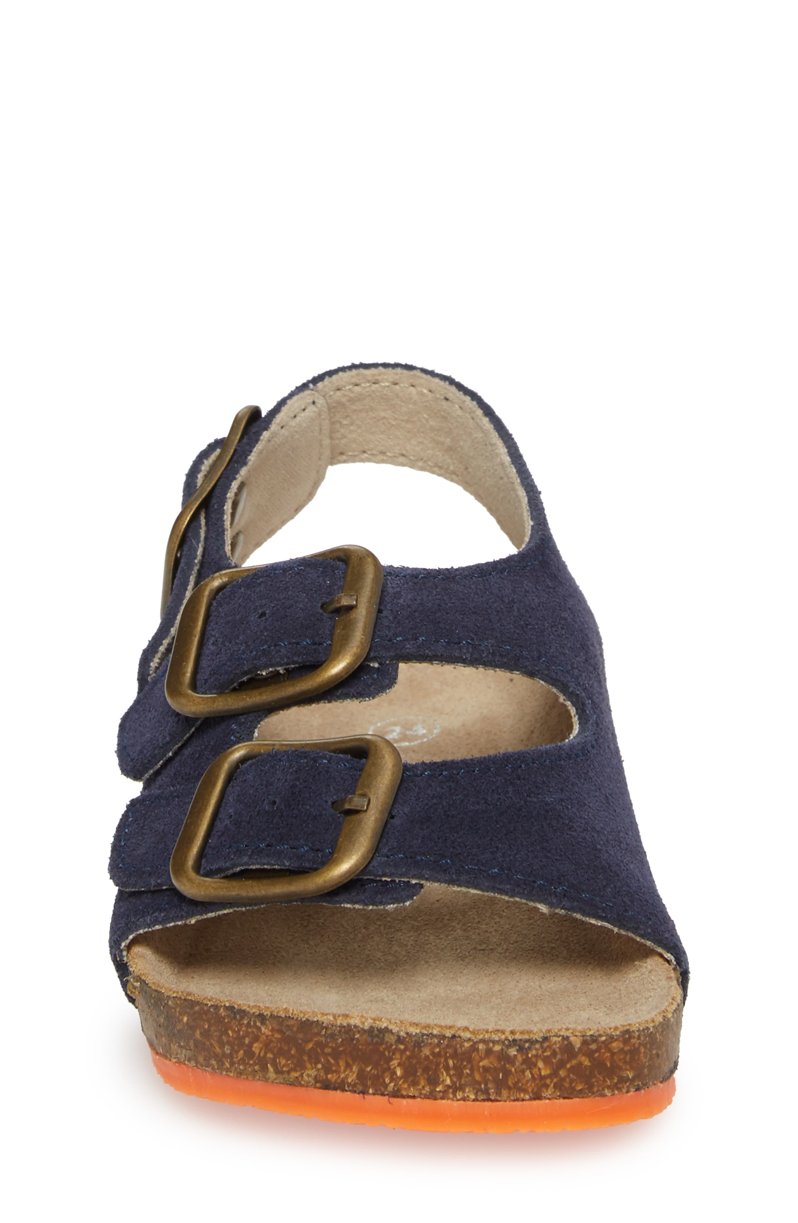 Sandal,                             Alternate thumbnail 4, color,                             School Navy