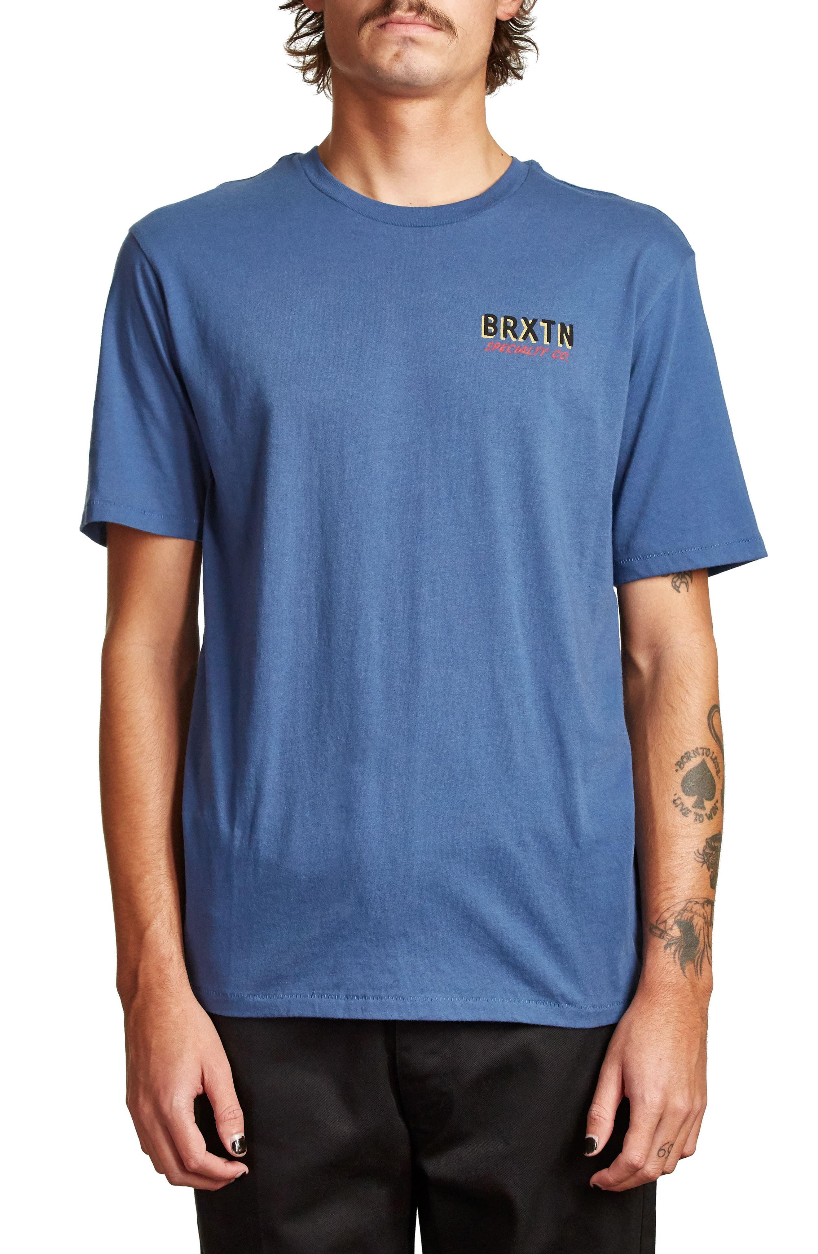Bodega Graphic T-Shirt,                             Main thumbnail 1, color,                             Deep Blue