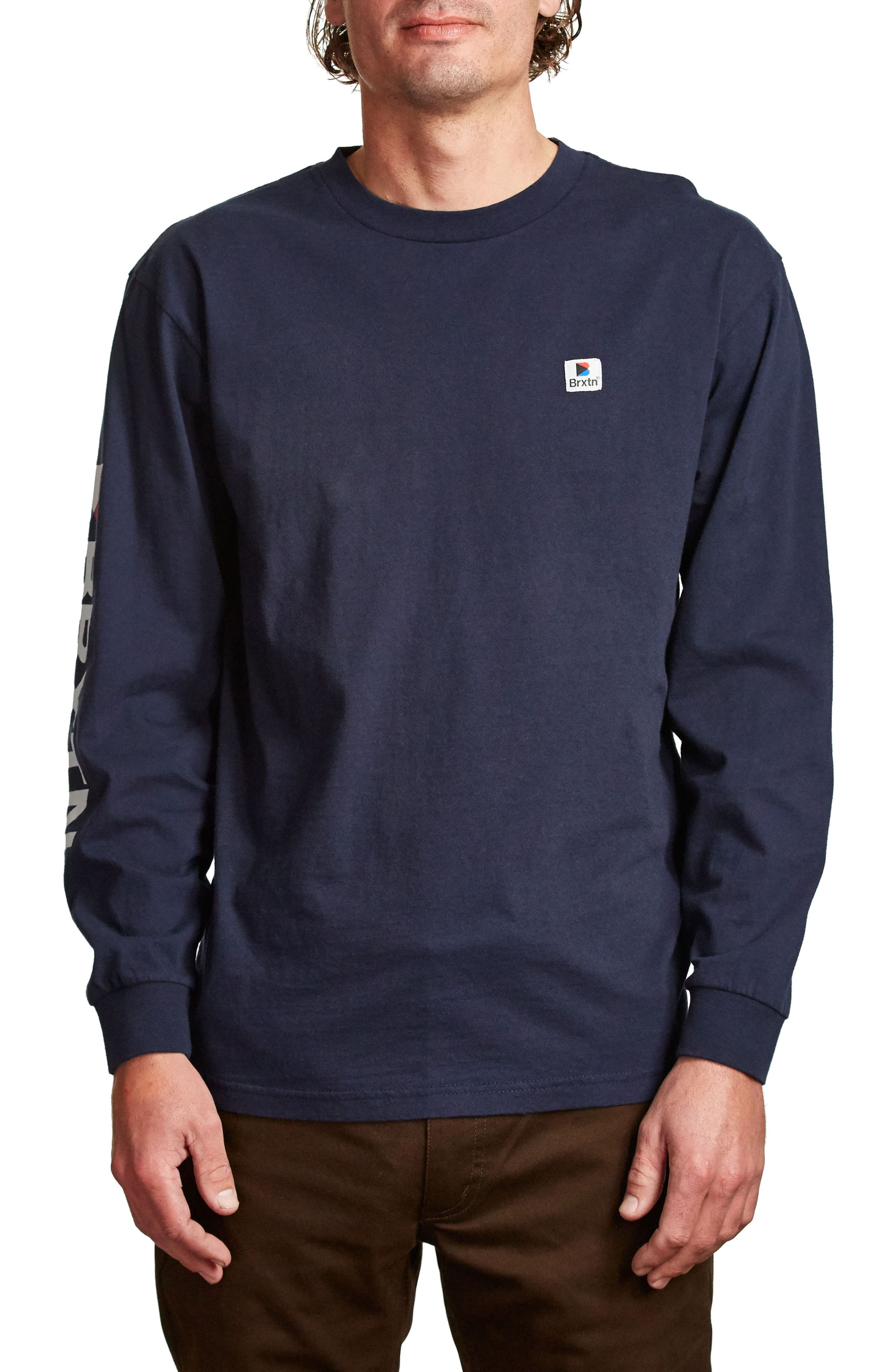 Stowell T-Shirt,                         Main,                         color, Navy