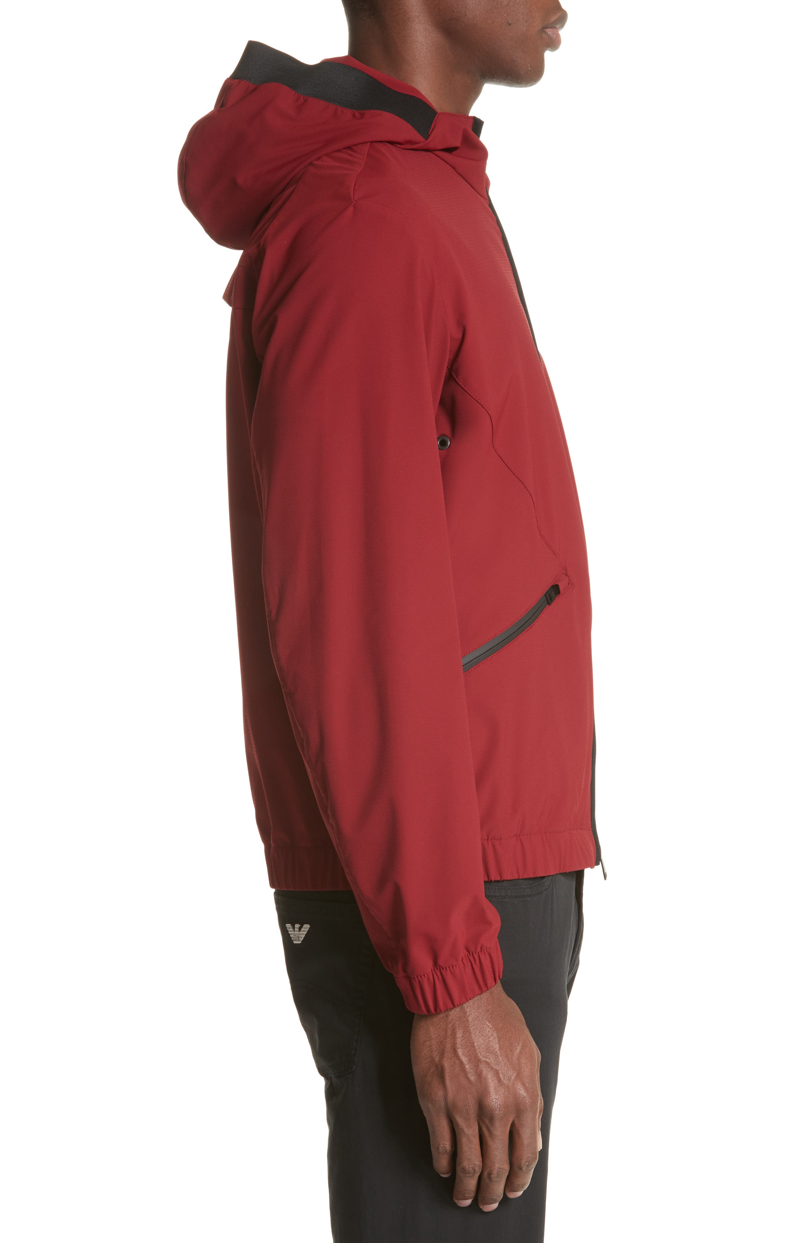 Water Repellent Jacket,                             Alternate thumbnail 3, color,                             Red