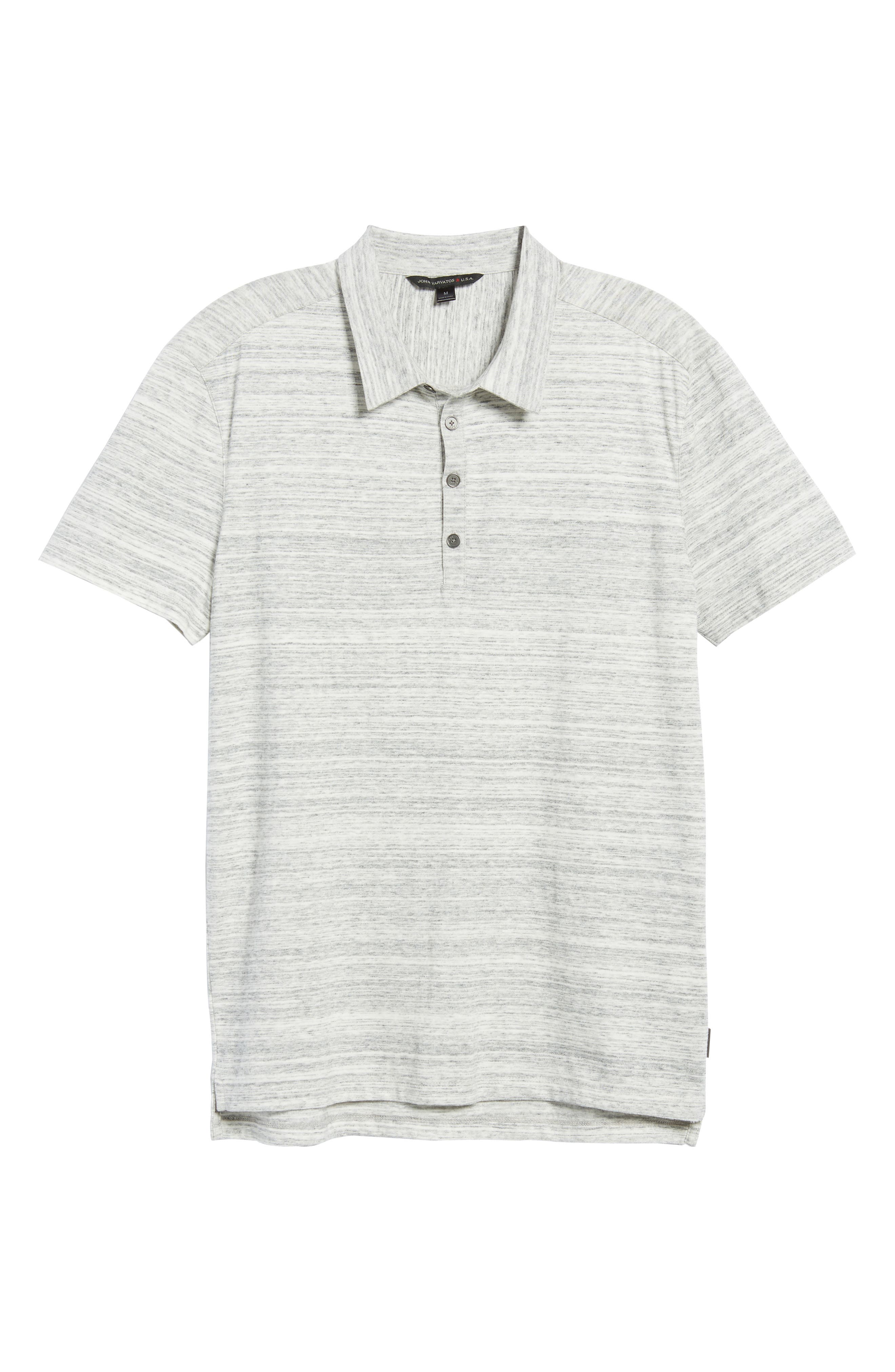 Slim Fit Polo,                             Alternate thumbnail 6, color,                             Griffin Grey