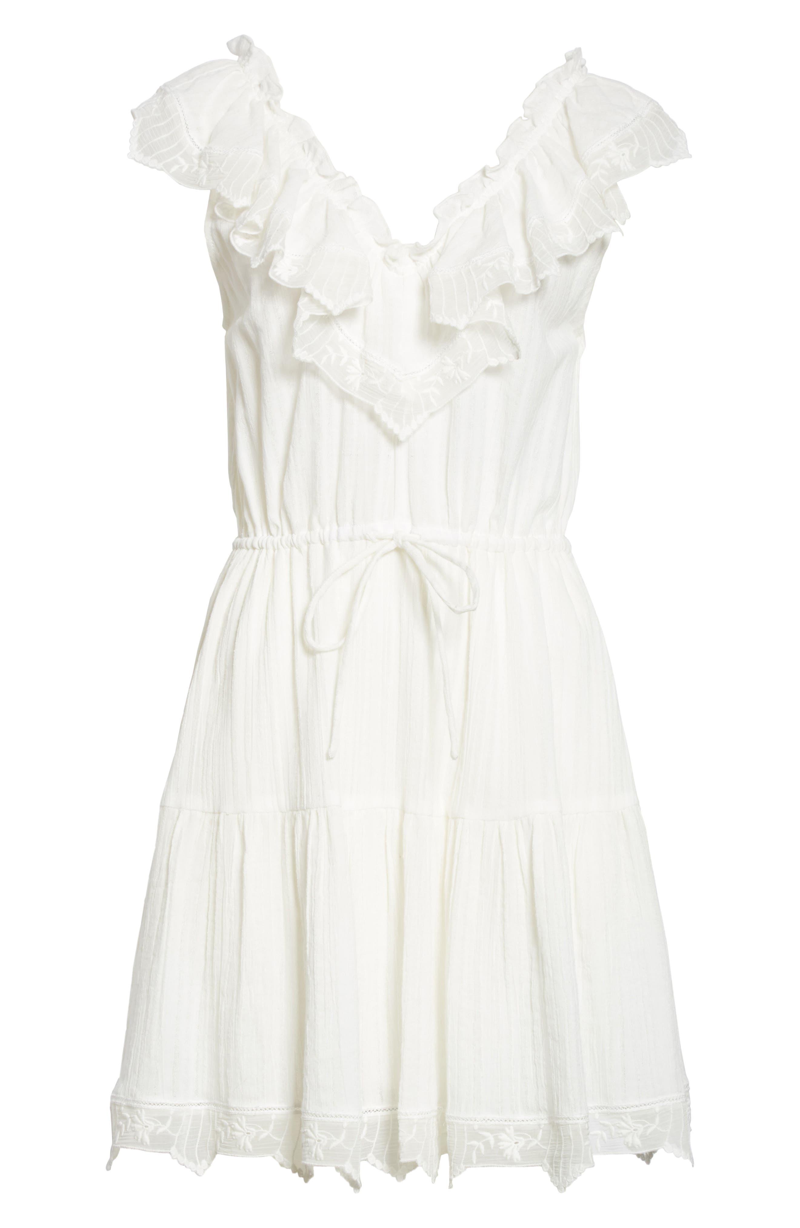 Mariana Ruffled Dress,                             Alternate thumbnail 6, color,                             Milk