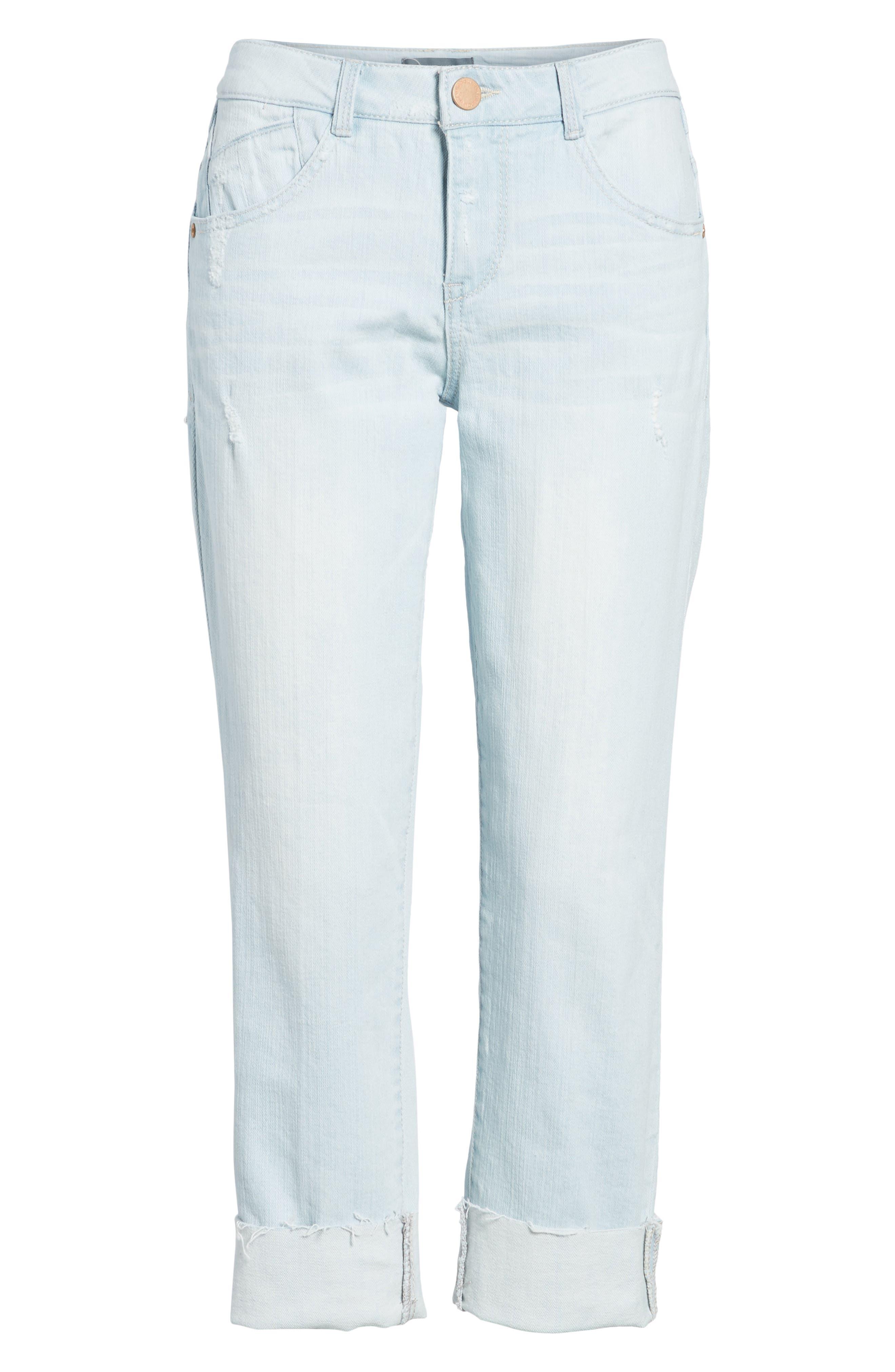Flex-ellent Distressed Boyfriend Jeans,                             Alternate thumbnail 7, color,                             Light Blue