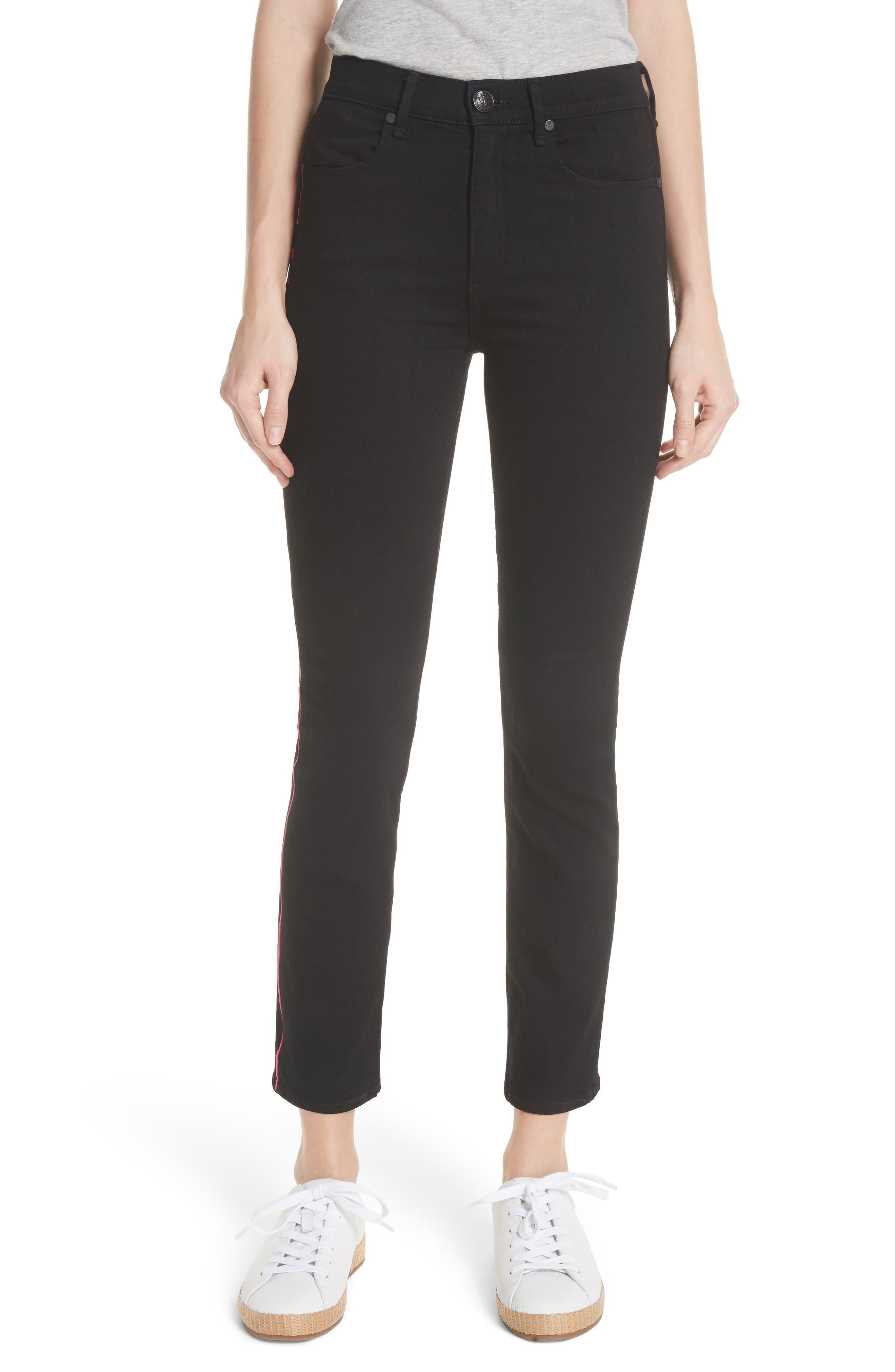 Alternate Image 1 Selected - rag & bone/JEAN Ash High Waist Skinny Jeans (Stone Kuro)