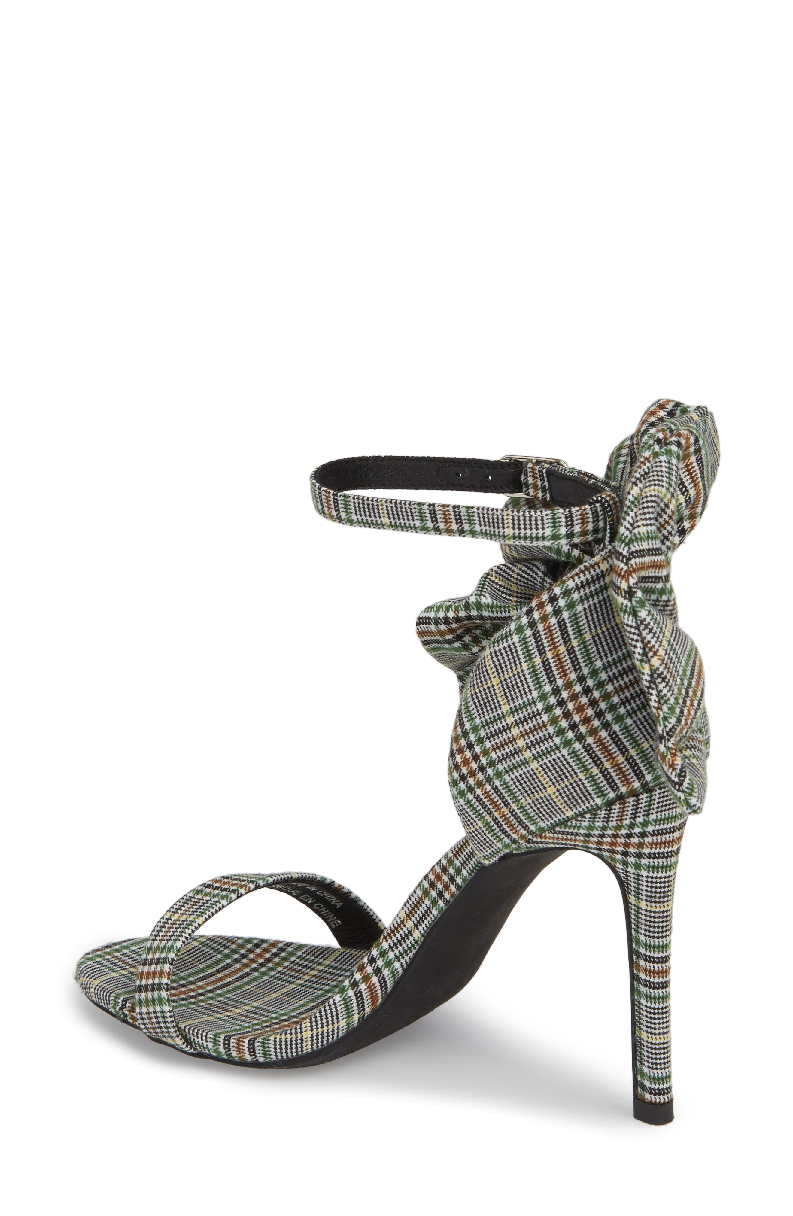 Cheshire Ruffle Sandal,                             Alternate thumbnail 2, color,                             Black/ White/ Green Fabric