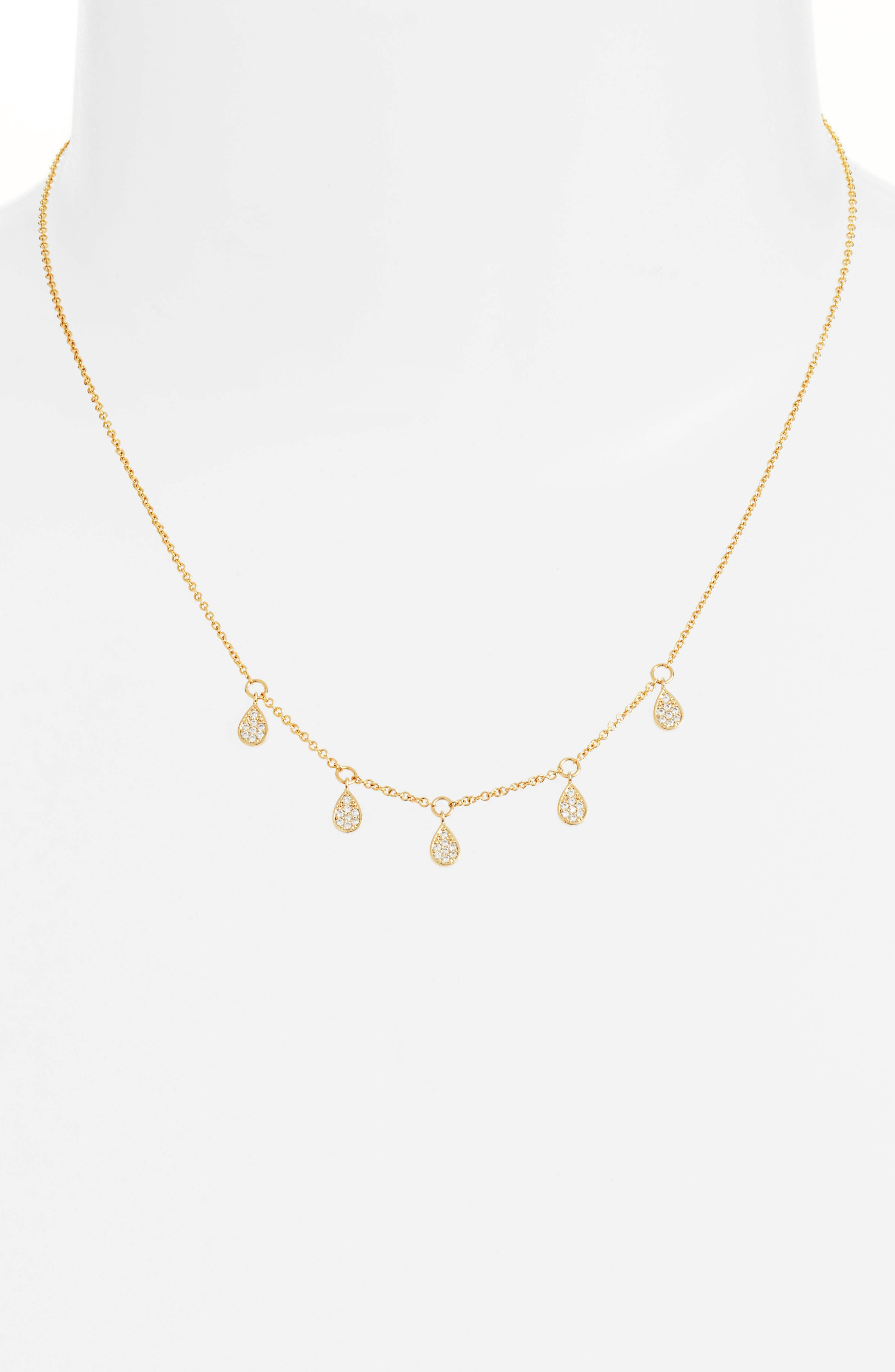 Dewdrop Lariat Necklace,                         Main,                         color, Gold