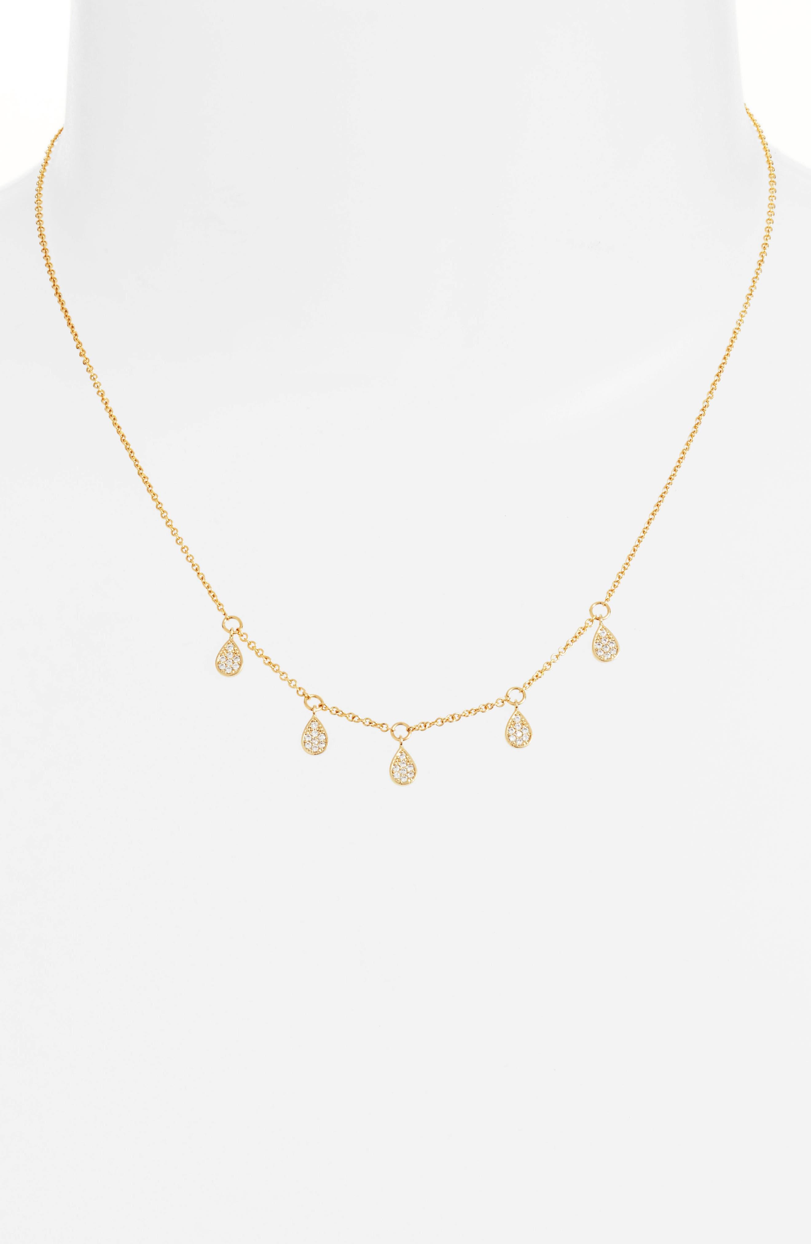Dewdrop Lariat Necklace,                         Main,                         color, Gold