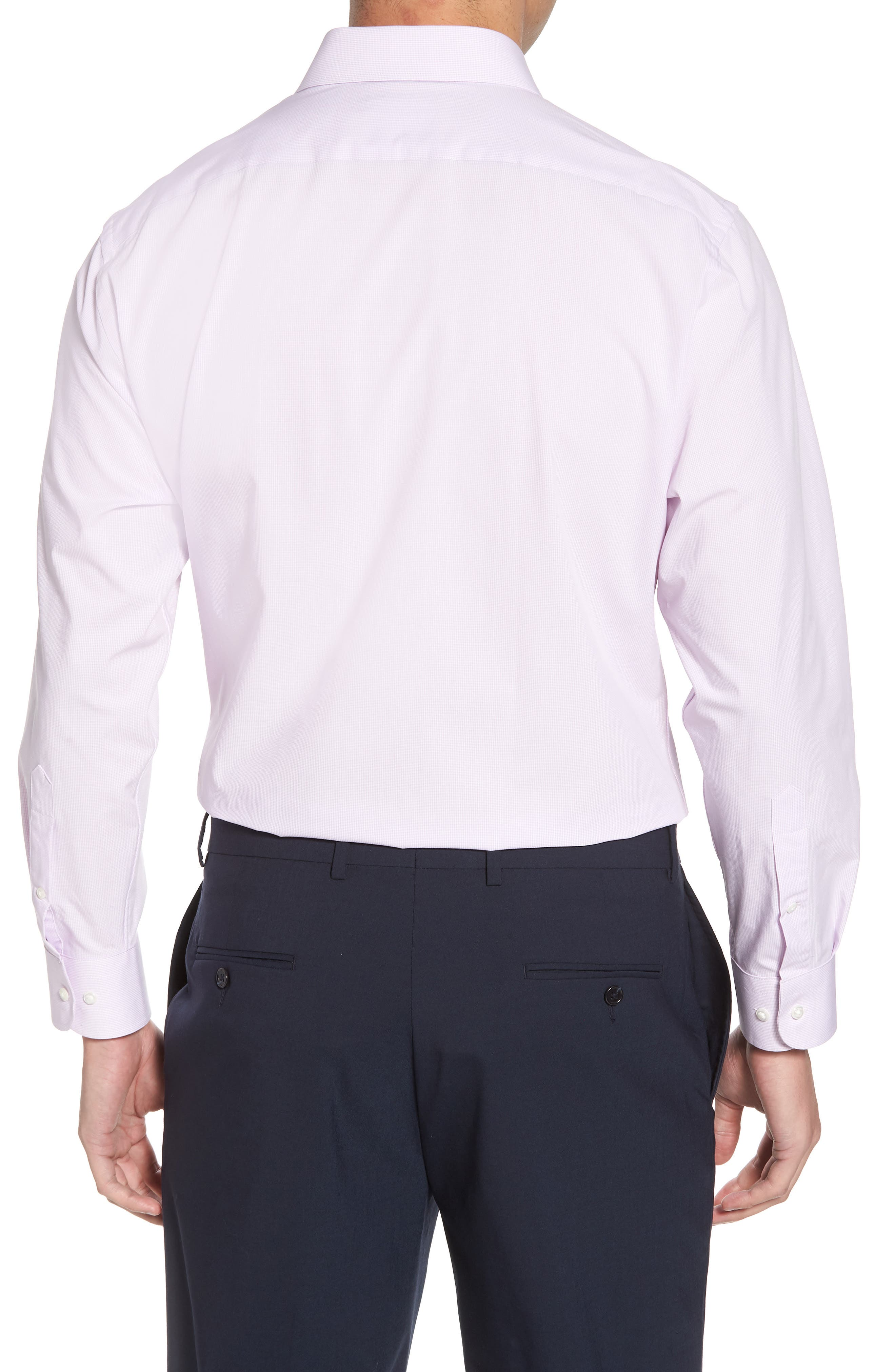 Tech-Smart Traditional Fit Stretch Microdot Dress Shirt,                             Alternate thumbnail 3, color,                             Purple Bloom