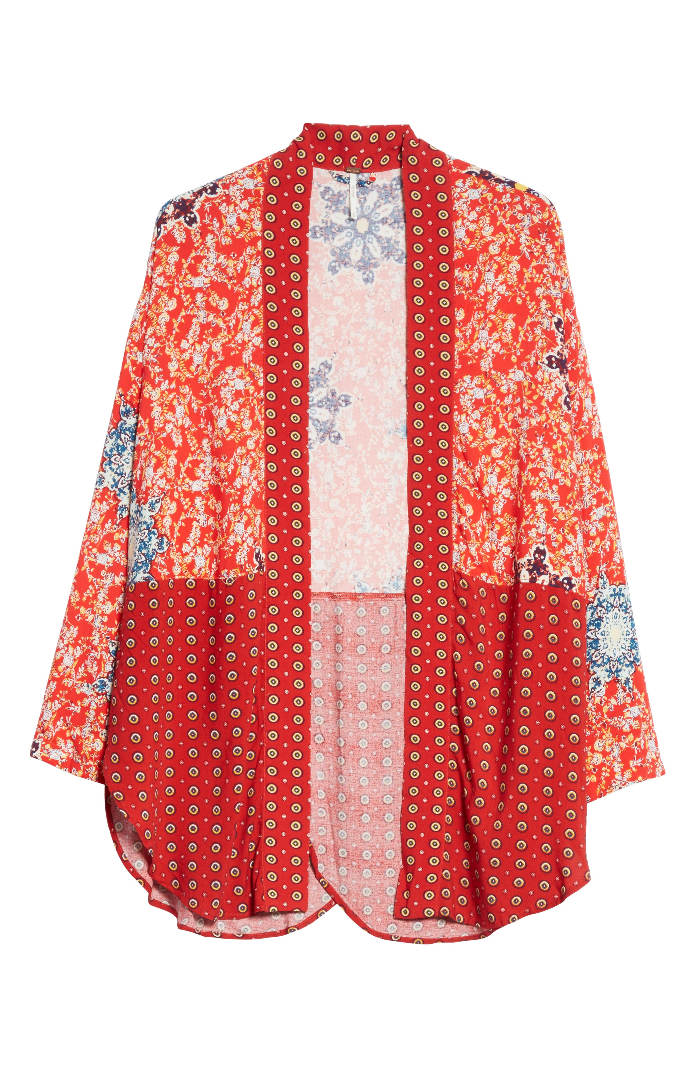 Forget Me Knot Tie Front Kimono,                             Alternate thumbnail 6, color,                             Light Red