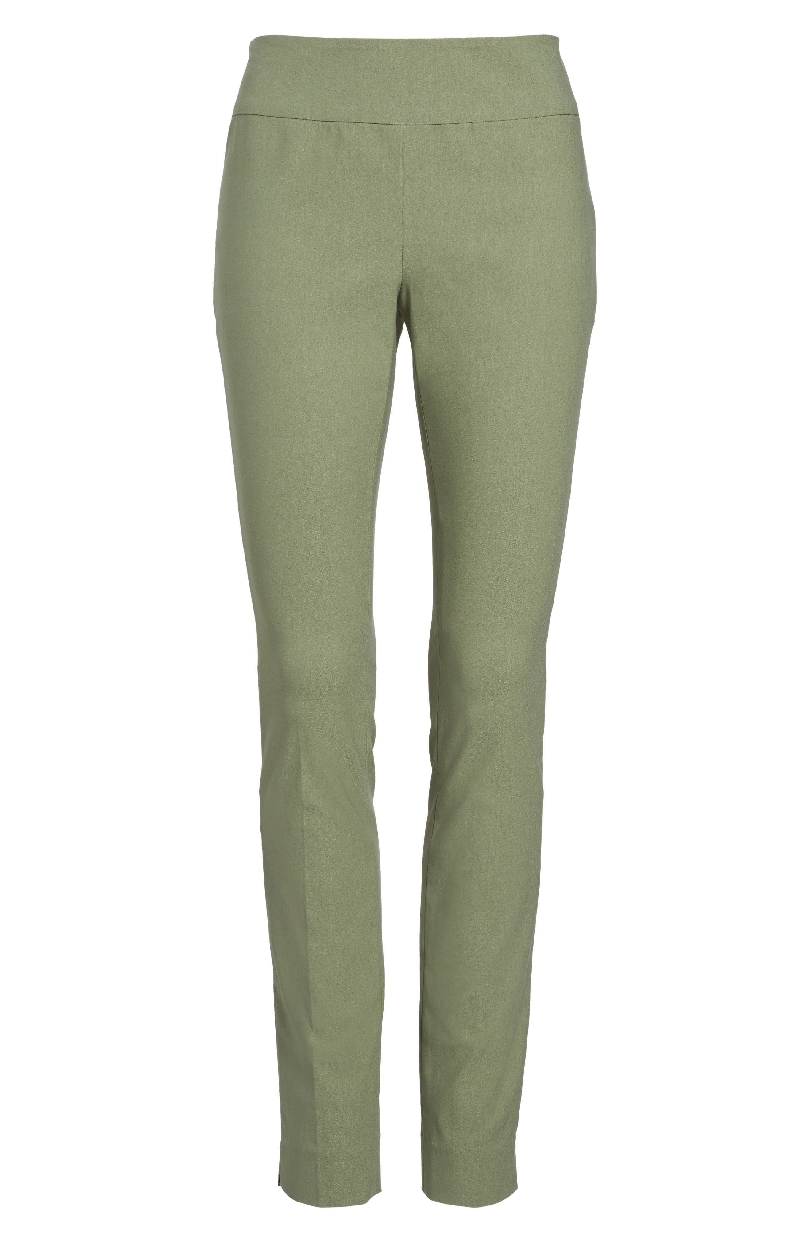 NIC + ZOE Wonderstretch Slim Pants,                             Alternate thumbnail 7, color,                             Spring Moss