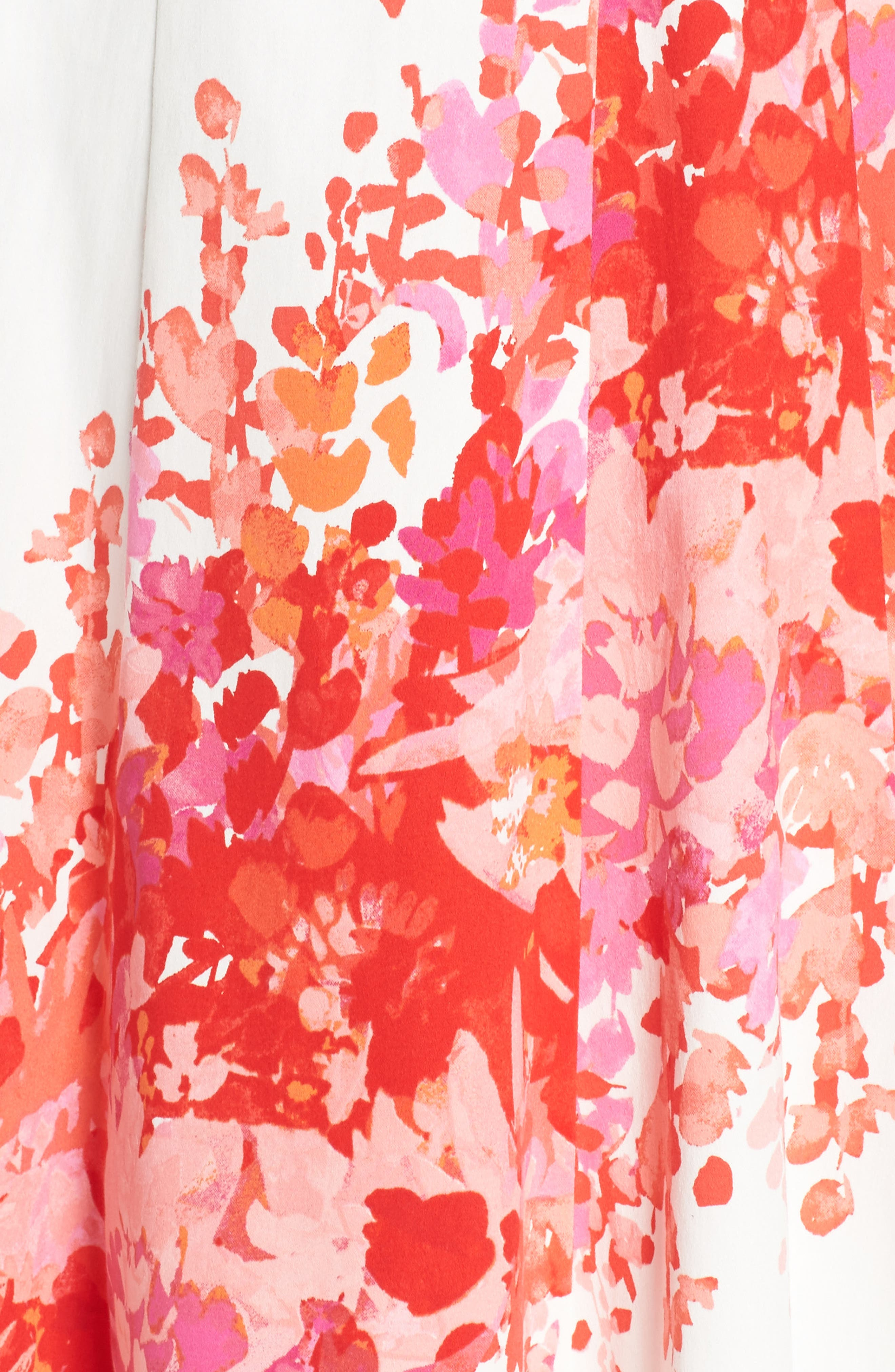 Fit & Flare Dress,                             Alternate thumbnail 5, color,                             Soft White/ Orange