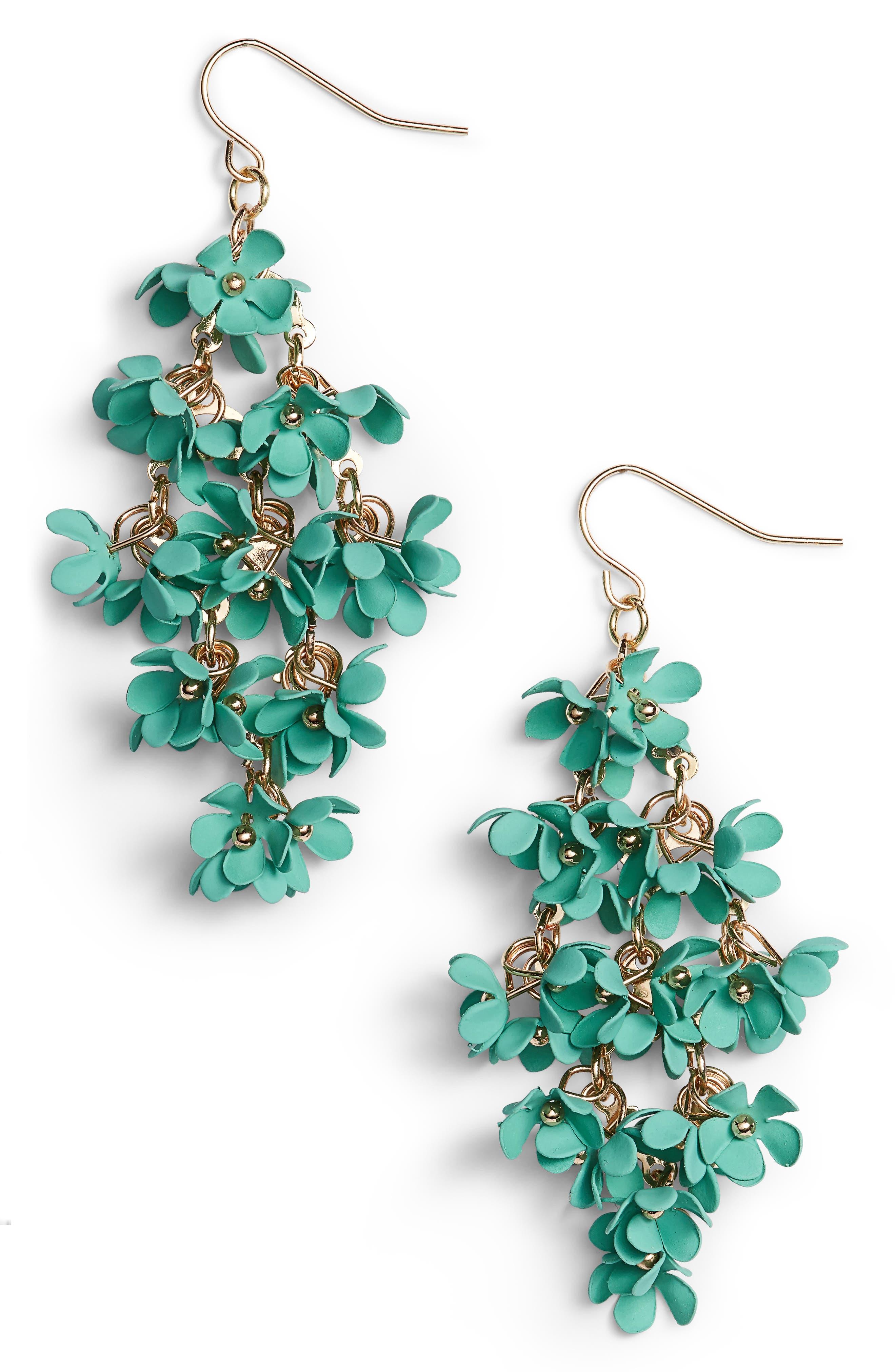 Halogen® Floral Bouquet Drop Earrings