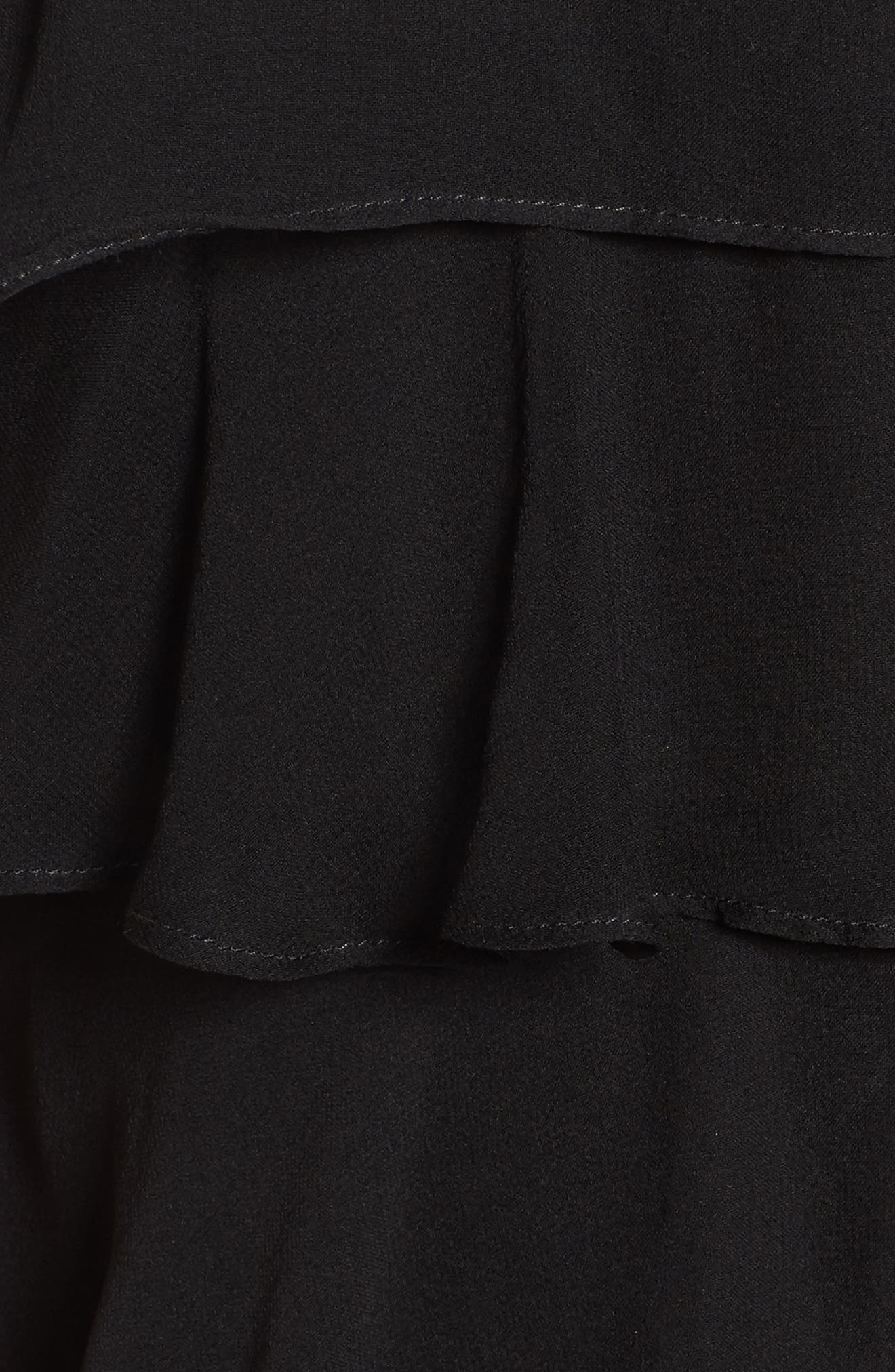 Delectable Tiered Silk Dress,                             Alternate thumbnail 5, color,                             Black