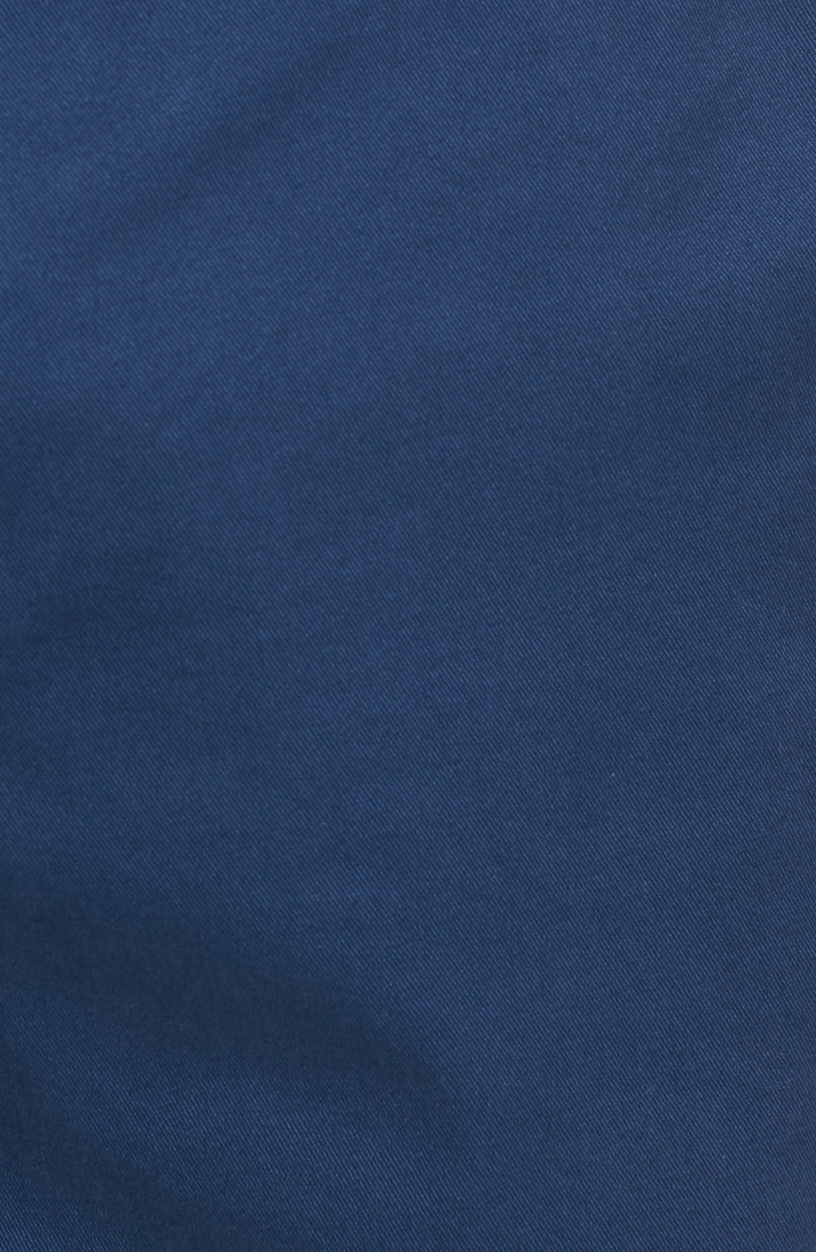 Proshor Slim Fit Chino Shorts,                             Alternate thumbnail 5, color,                             Dark Blue
